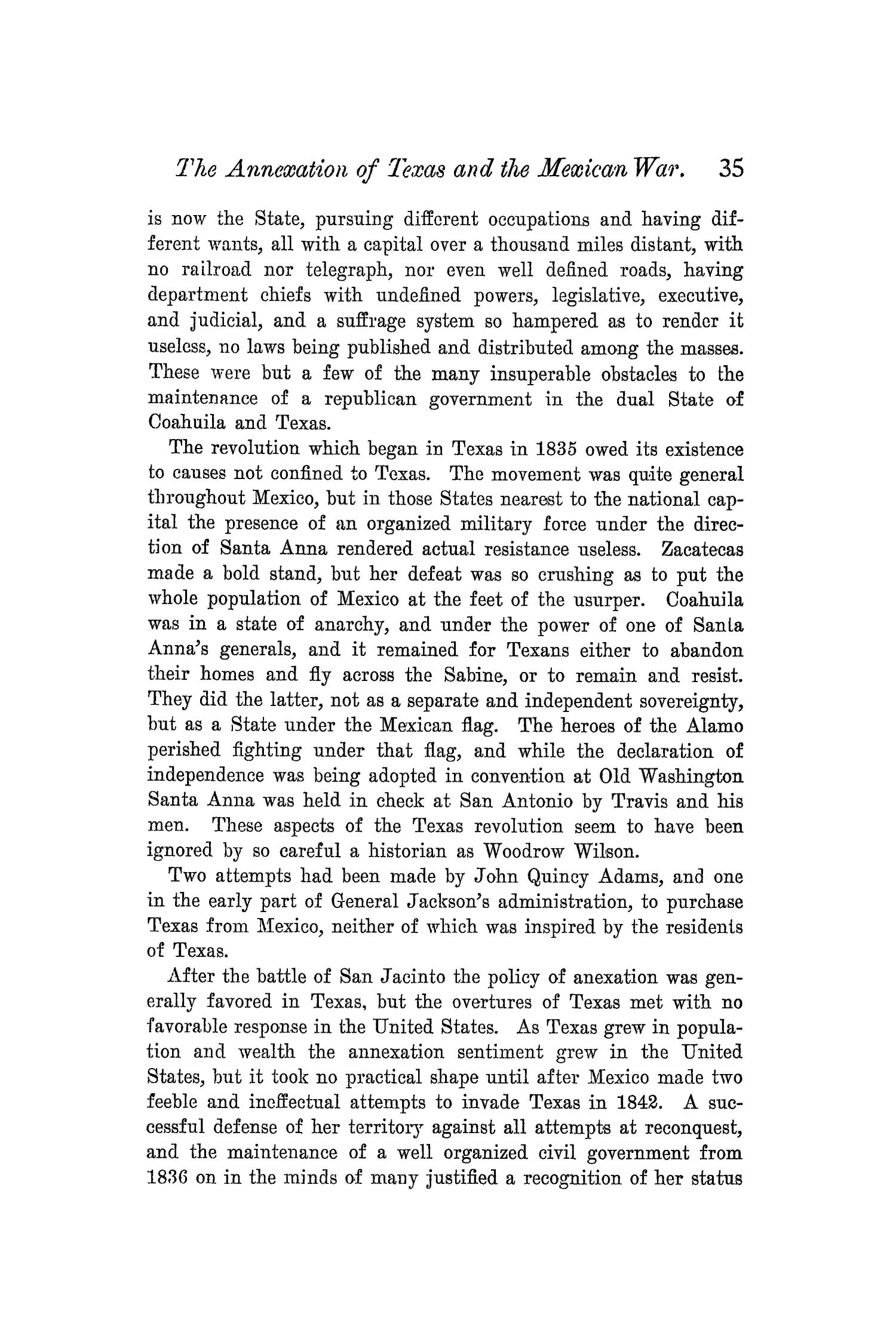 The Quarterly of the Texas State Historical Association, Volume 5, July 1901 - April, 1902                                                                                                      35