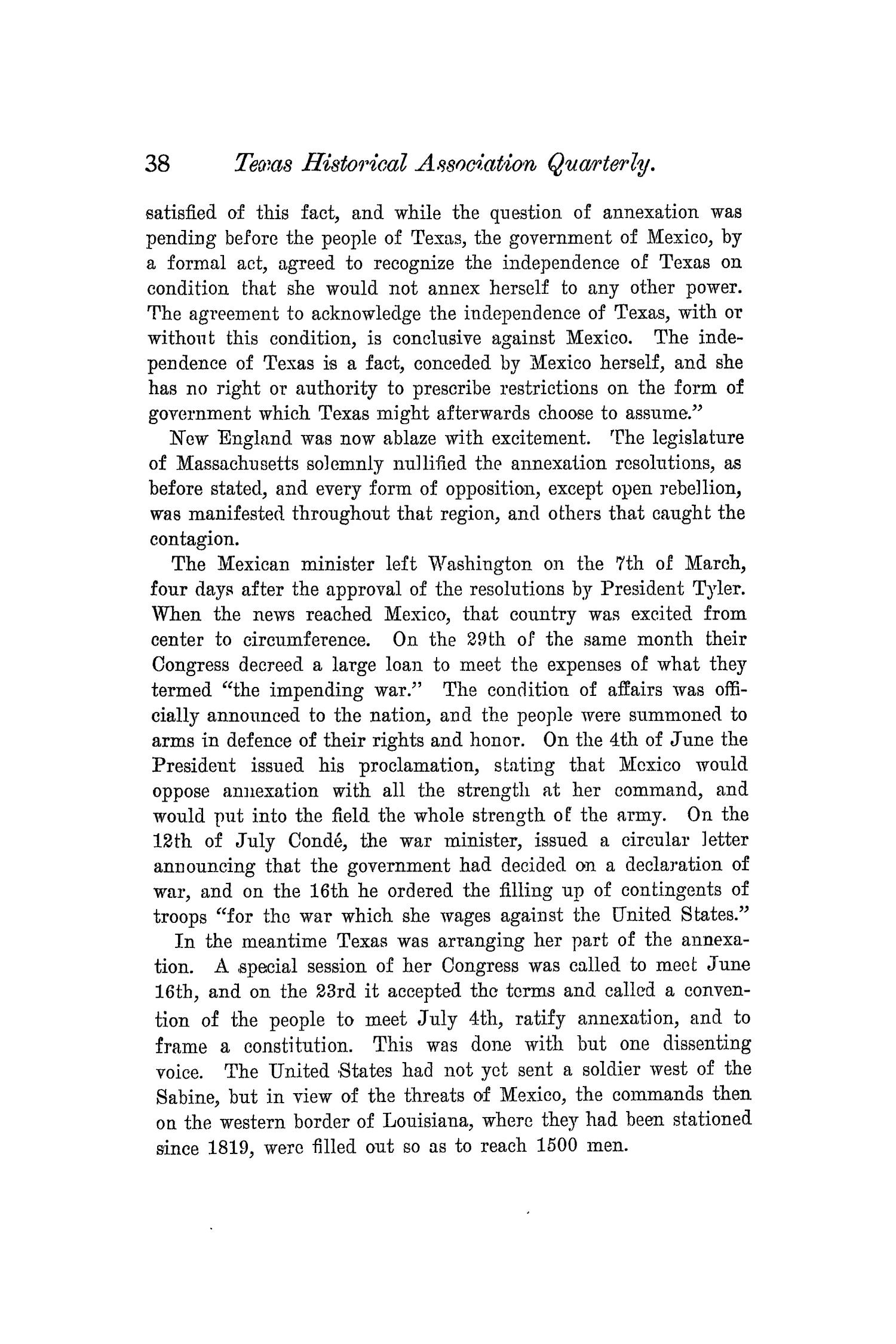 The Quarterly of the Texas State Historical Association, Volume 5, July 1901 - April, 1902                                                                                                      38