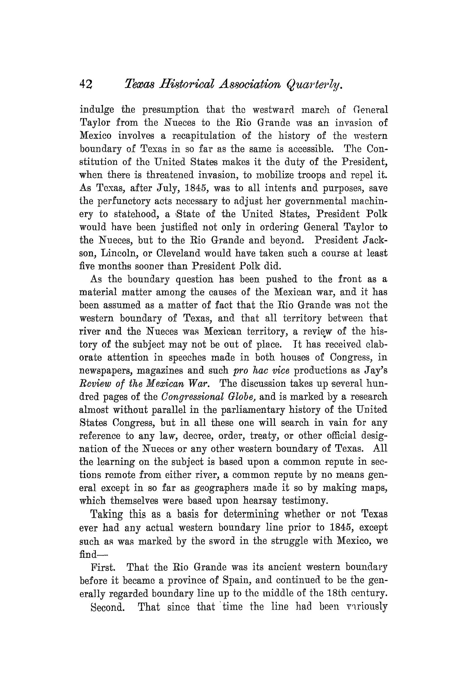 The Quarterly of the Texas State Historical Association, Volume 5, July 1901 - April, 1902                                                                                                      42