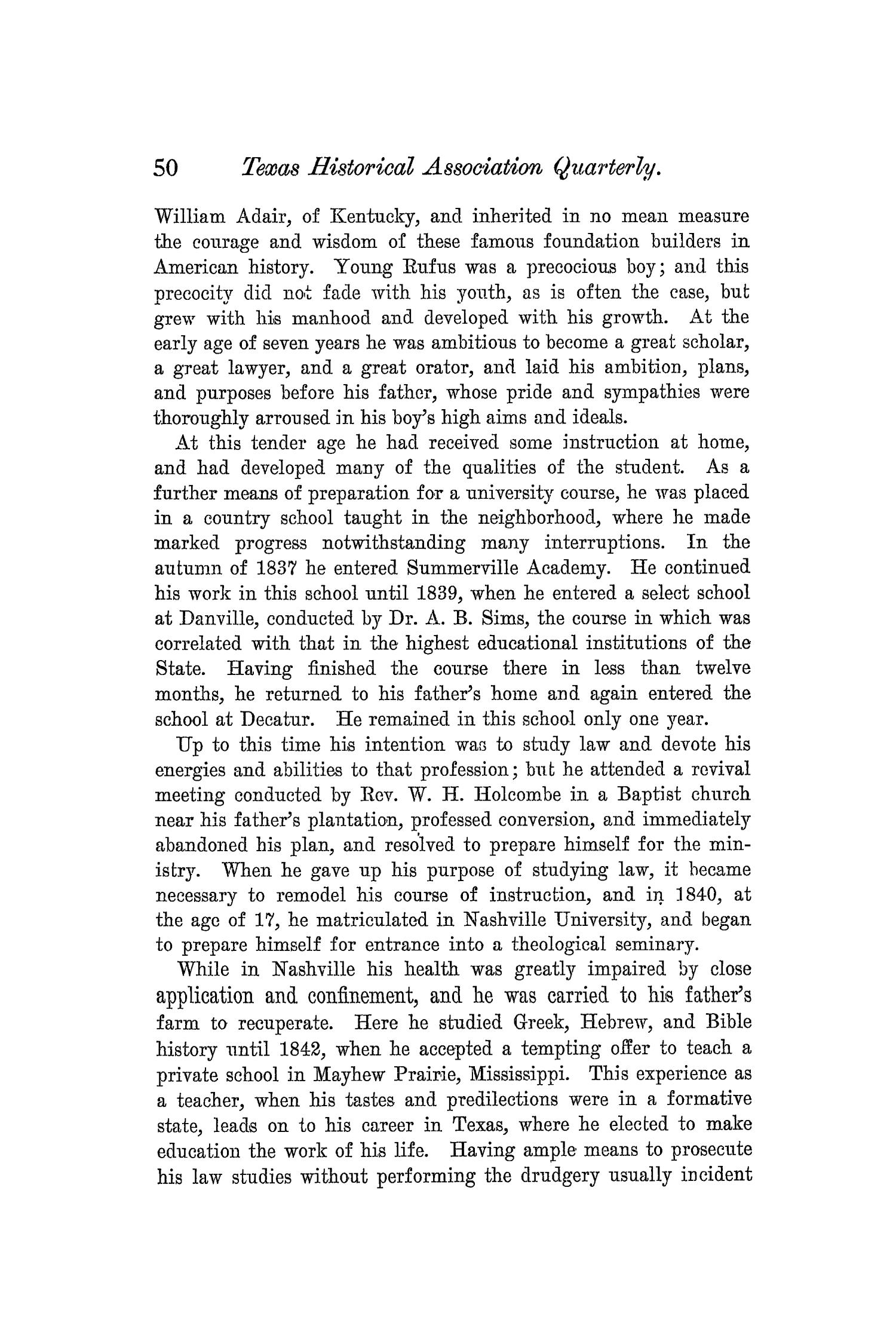 The Quarterly of the Texas State Historical Association, Volume 5, July 1901 - April, 1902                                                                                                      50