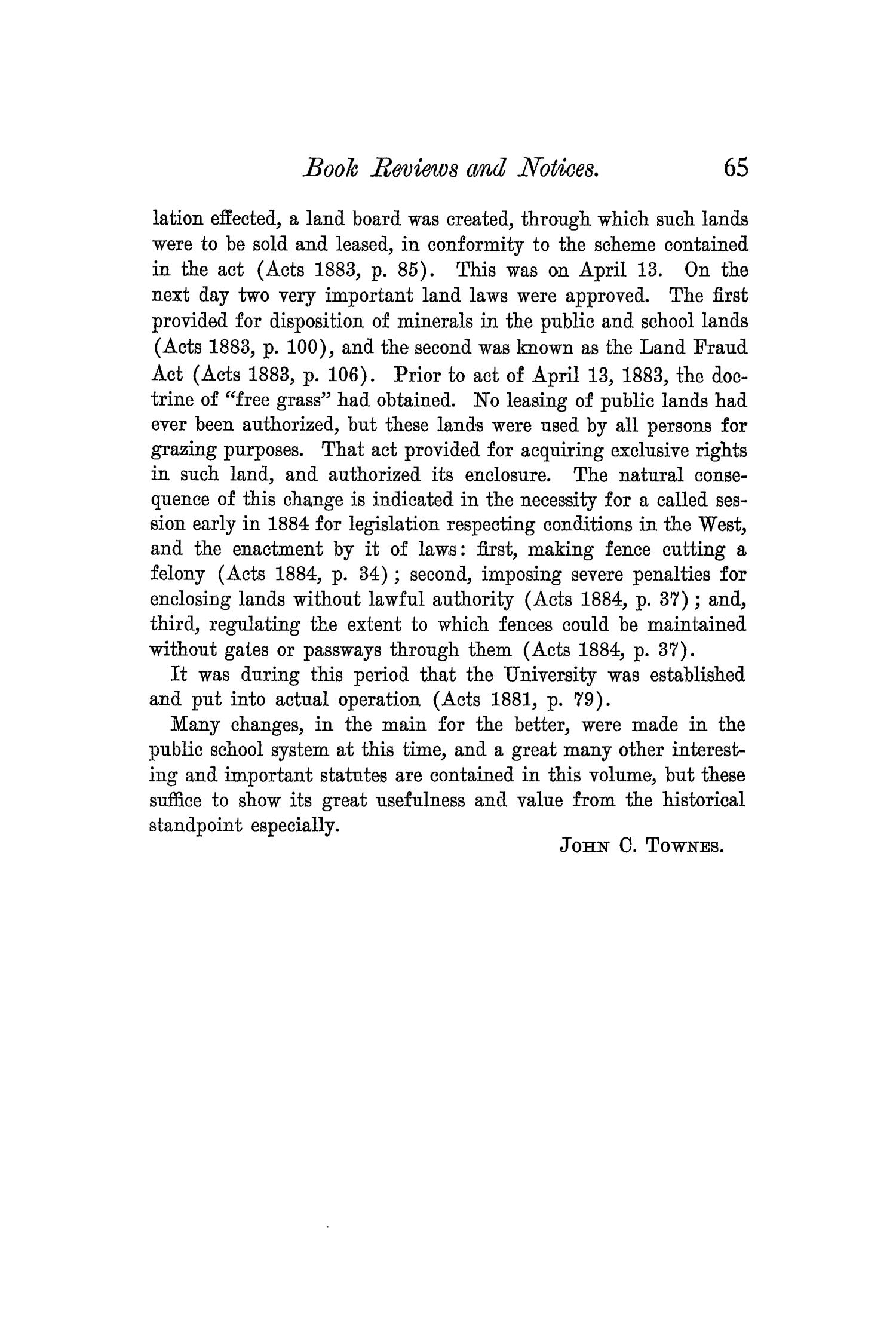 The Quarterly of the Texas State Historical Association, Volume 5, July 1901 - April, 1902                                                                                                      65