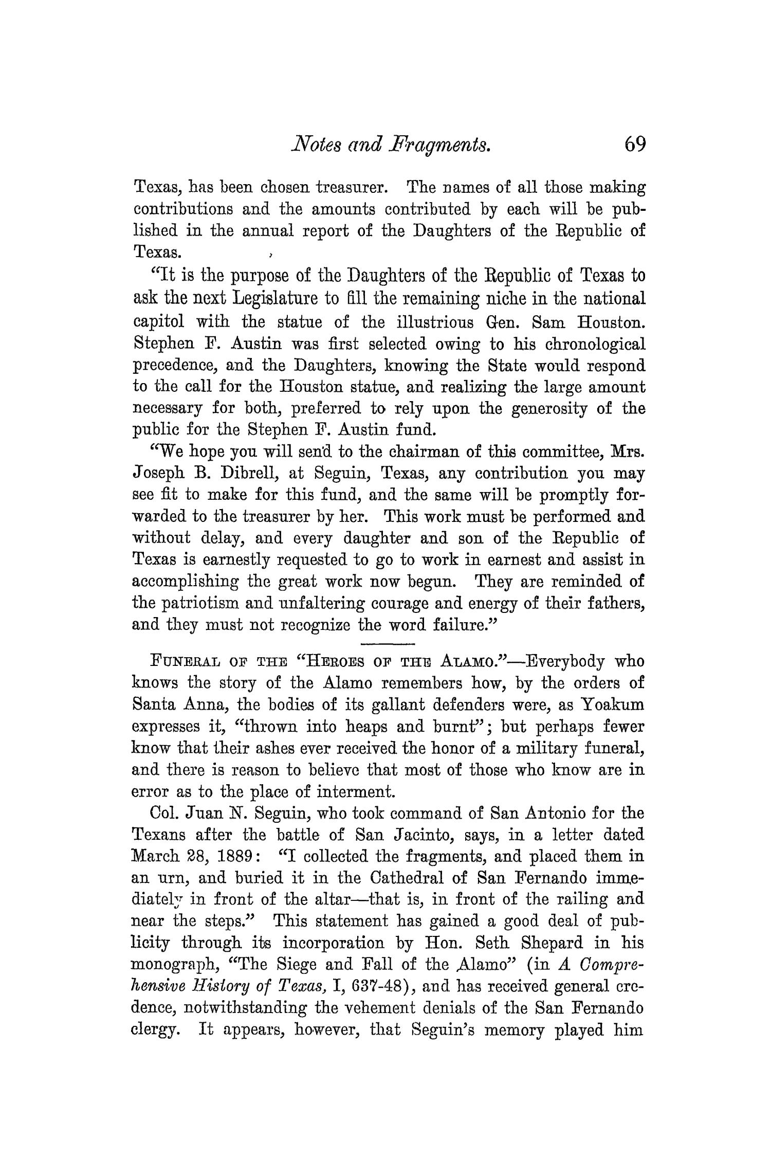 The Quarterly of the Texas State Historical Association, Volume 5, July 1901 - April, 1902                                                                                                      69