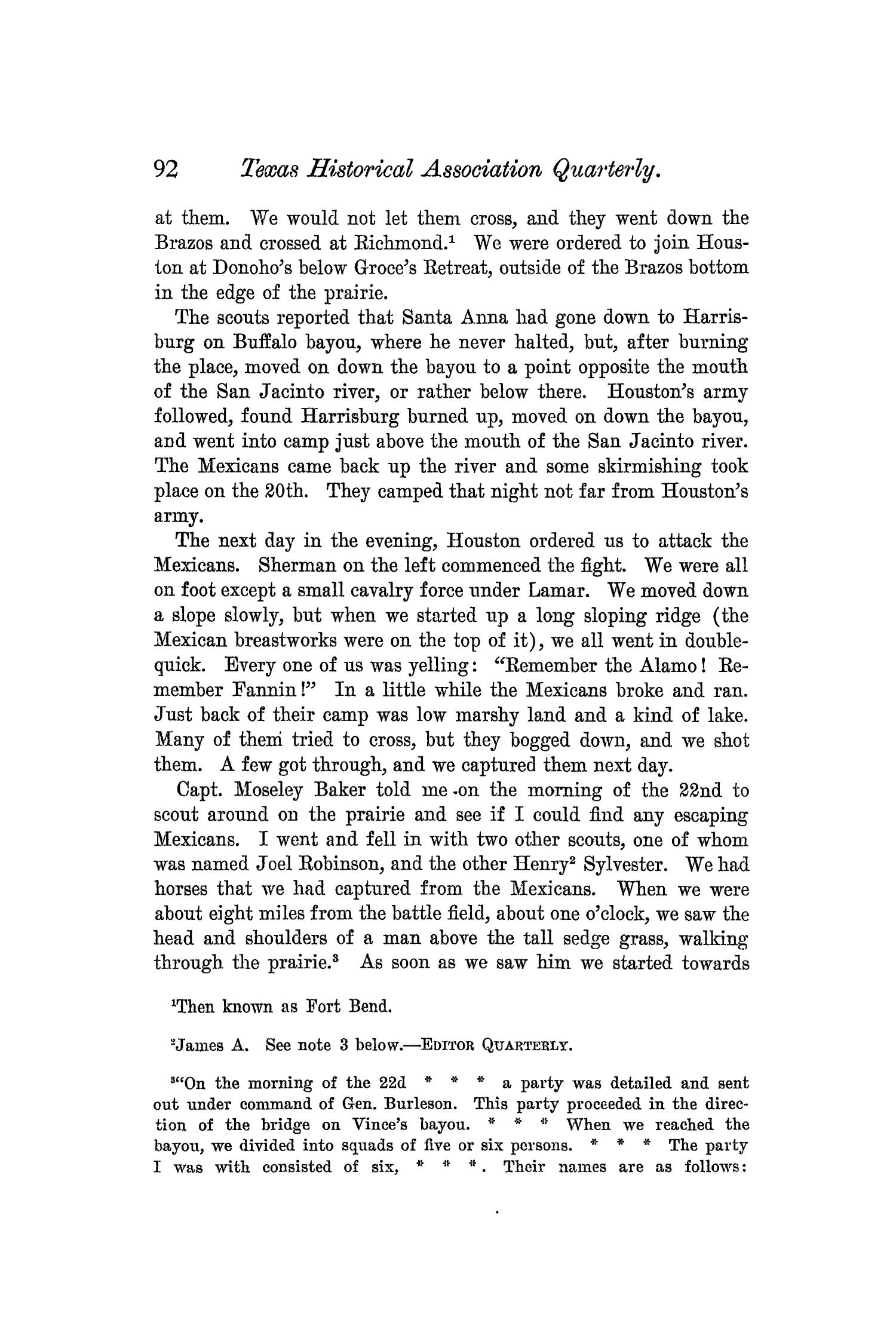 The Quarterly of the Texas State Historical Association, Volume 5, July 1901 - April, 1902                                                                                                      92