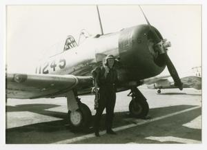 Primary view of object titled '[WASP Standing Next to a Plane #1]'.