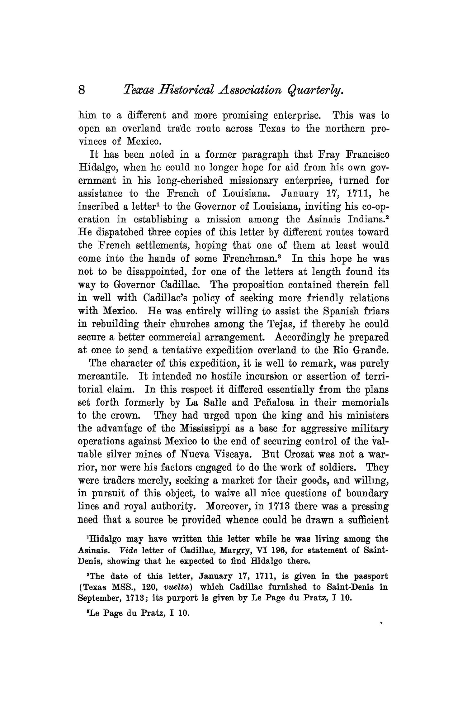 The Quarterly of the Texas State Historical Association, Volume 6, July 1902 - April, 1903                                                                                                      8