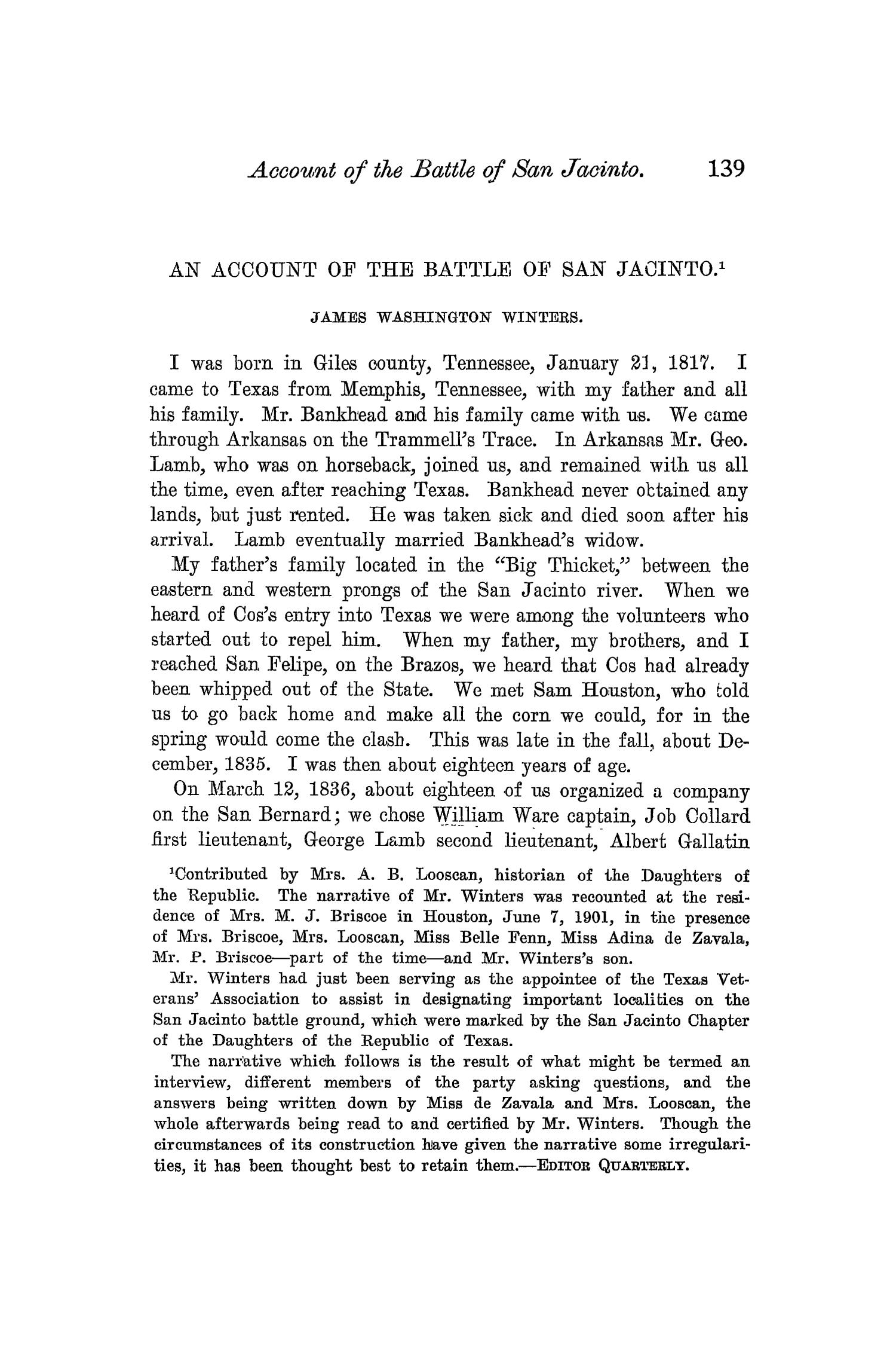 The Quarterly of the Texas State Historical Association, Volume 6, July 1902 - April, 1903                                                                                                      139