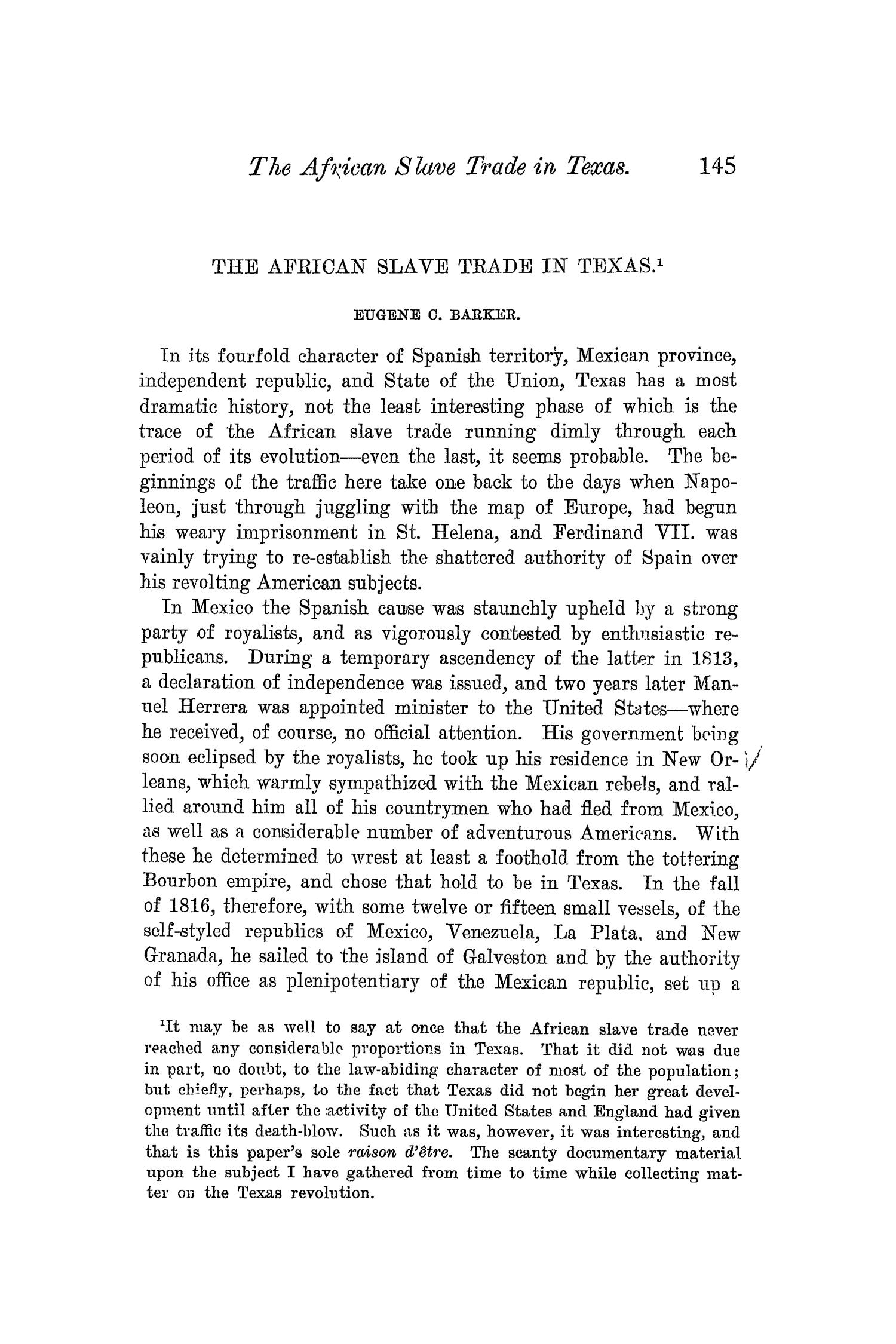 The Quarterly of the Texas State Historical Association, Volume 6, July 1902 - April, 1903                                                                                                      145