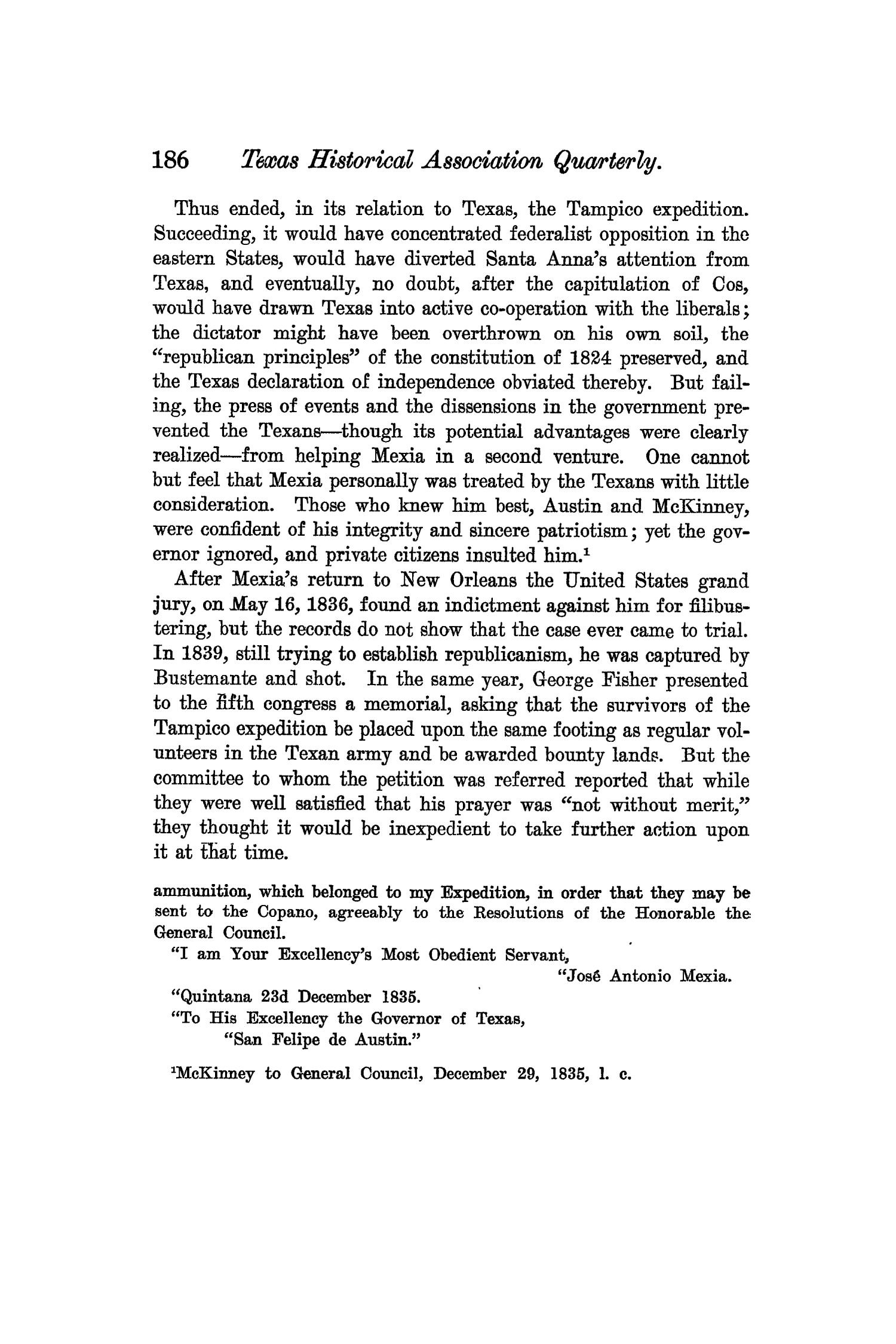 The Quarterly of the Texas State Historical Association, Volume 6, July 1902 - April, 1903                                                                                                      186