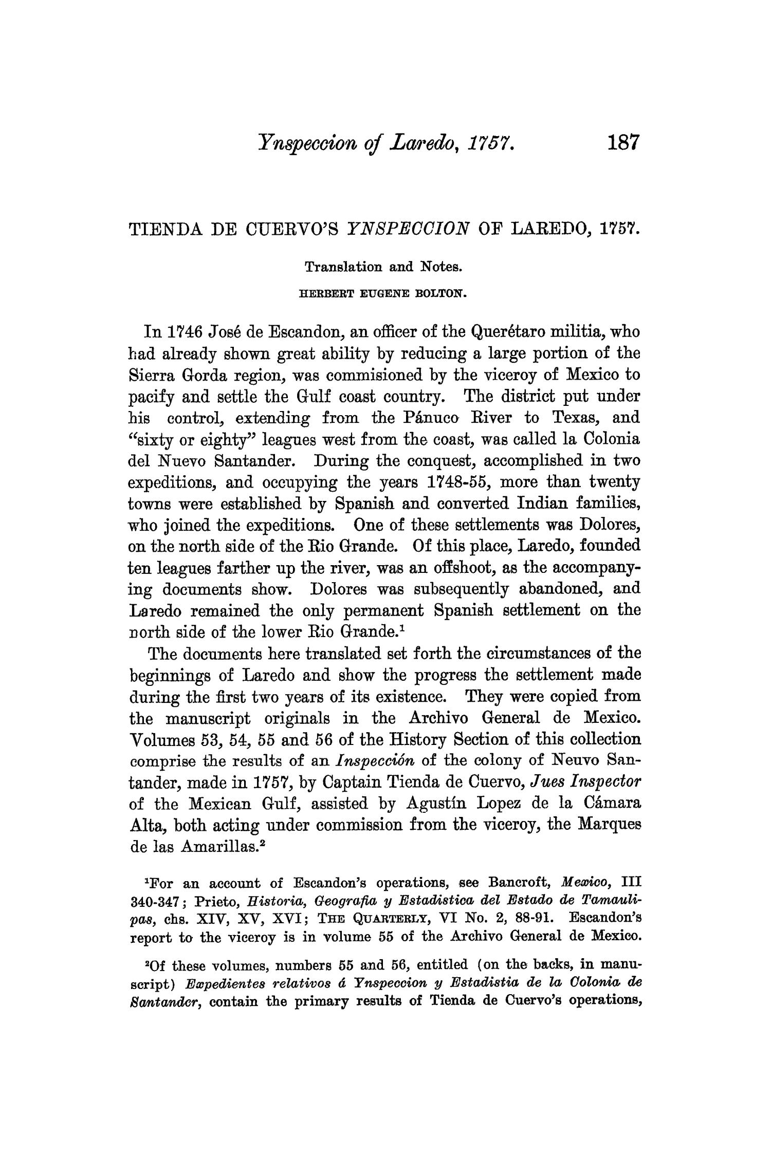 The Quarterly of the Texas State Historical Association, Volume 6, July 1902 - April, 1903                                                                                                      187