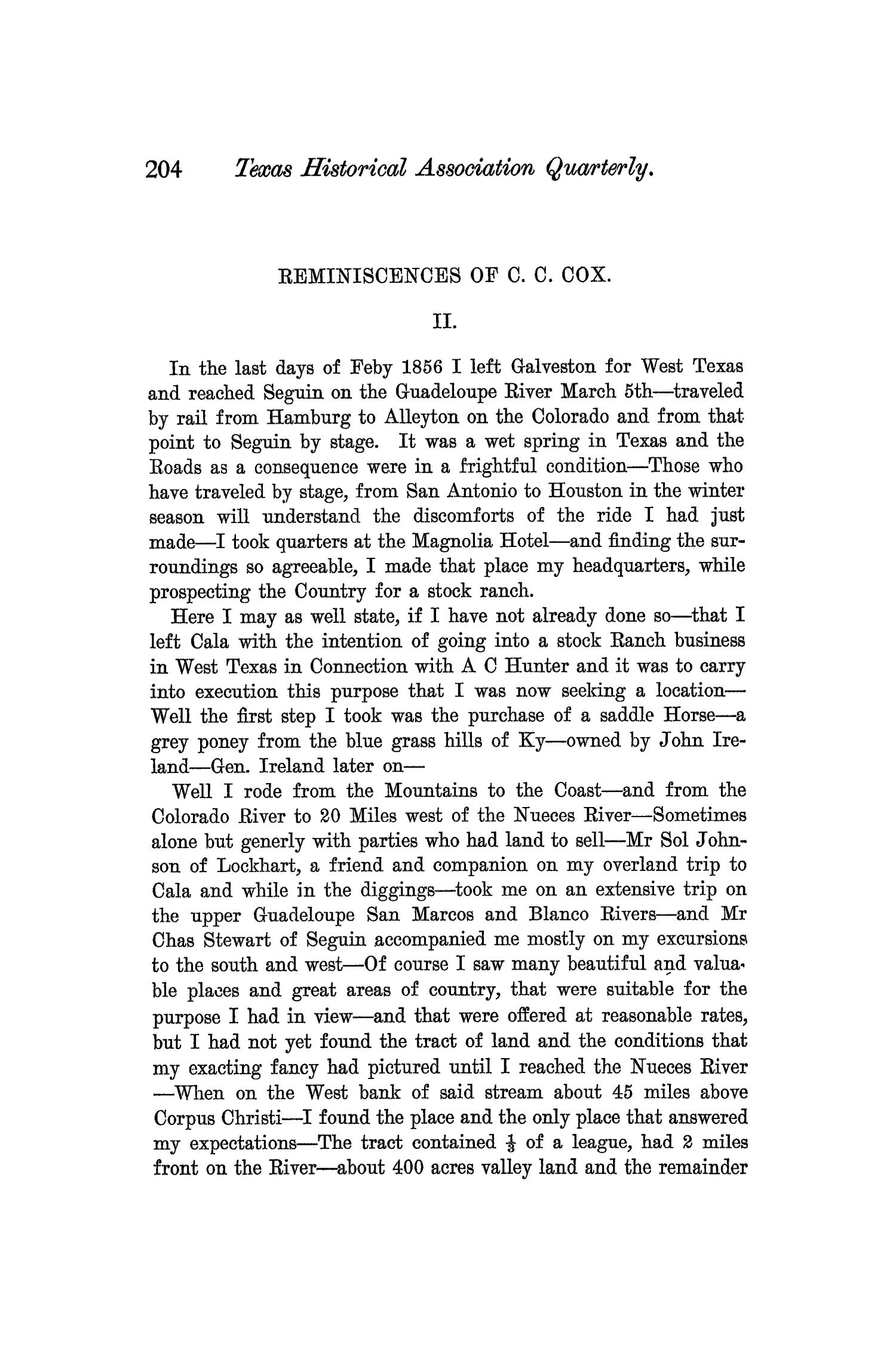 The Quarterly of the Texas State Historical Association, Volume 6, July 1902 - April, 1903                                                                                                      204