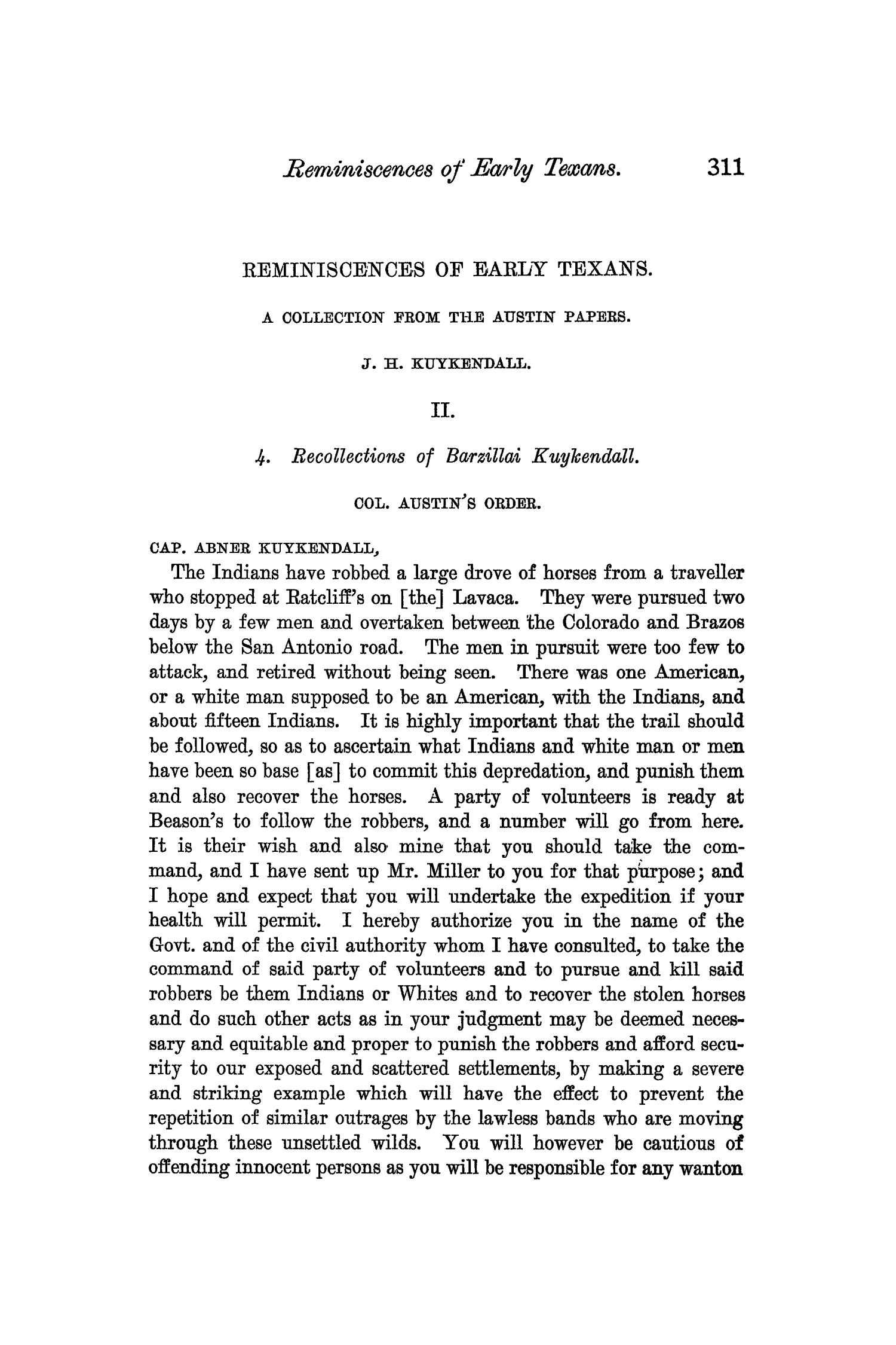 The Quarterly of the Texas State Historical Association, Volume 6, July 1902 - April, 1903                                                                                                      311