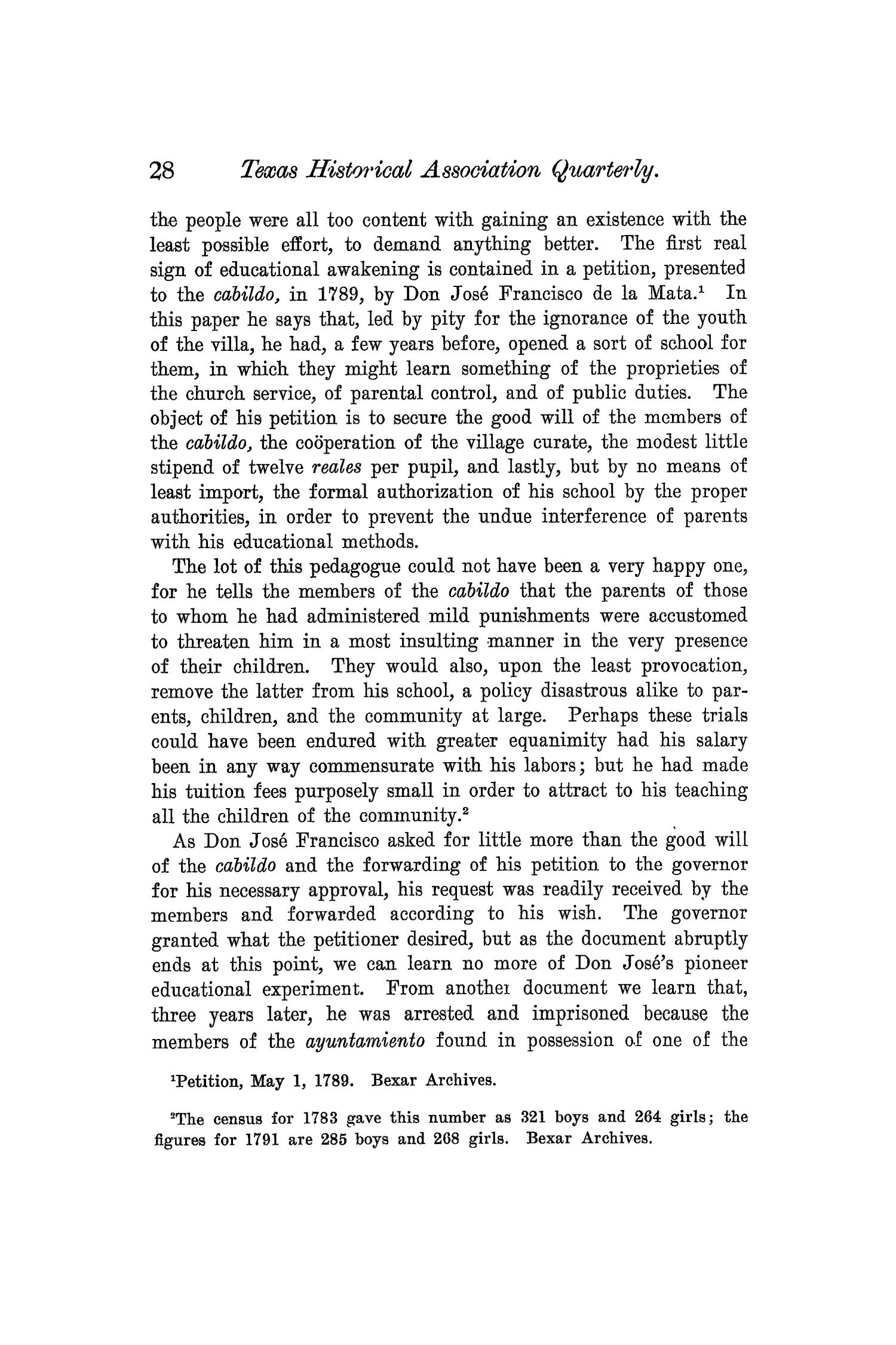 The Quarterly of the Texas State Historical Association, Volume 6, July 1902 - April, 1903                                                                                                      28