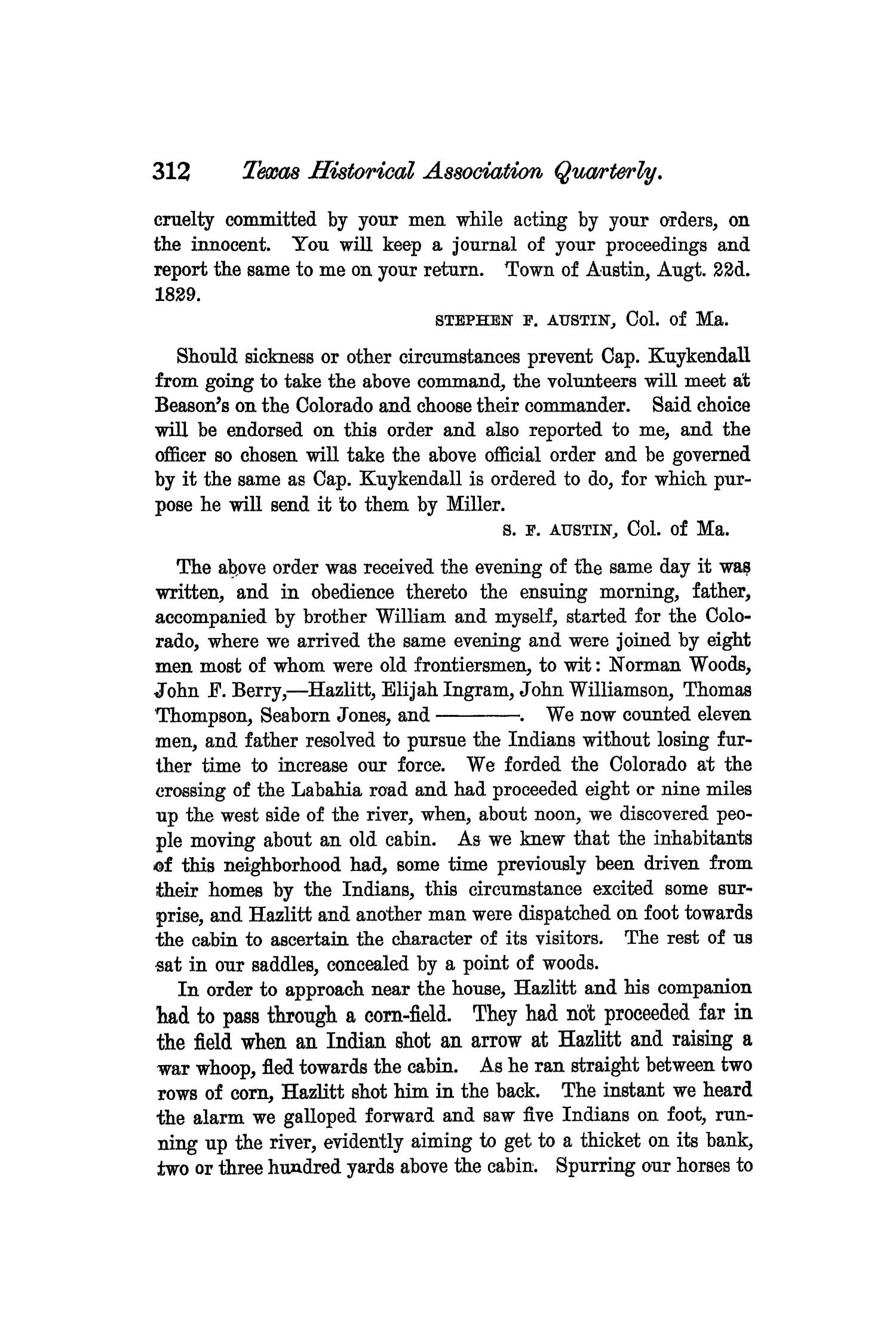 The Quarterly of the Texas State Historical Association, Volume 6, July 1902 - April, 1903                                                                                                      312