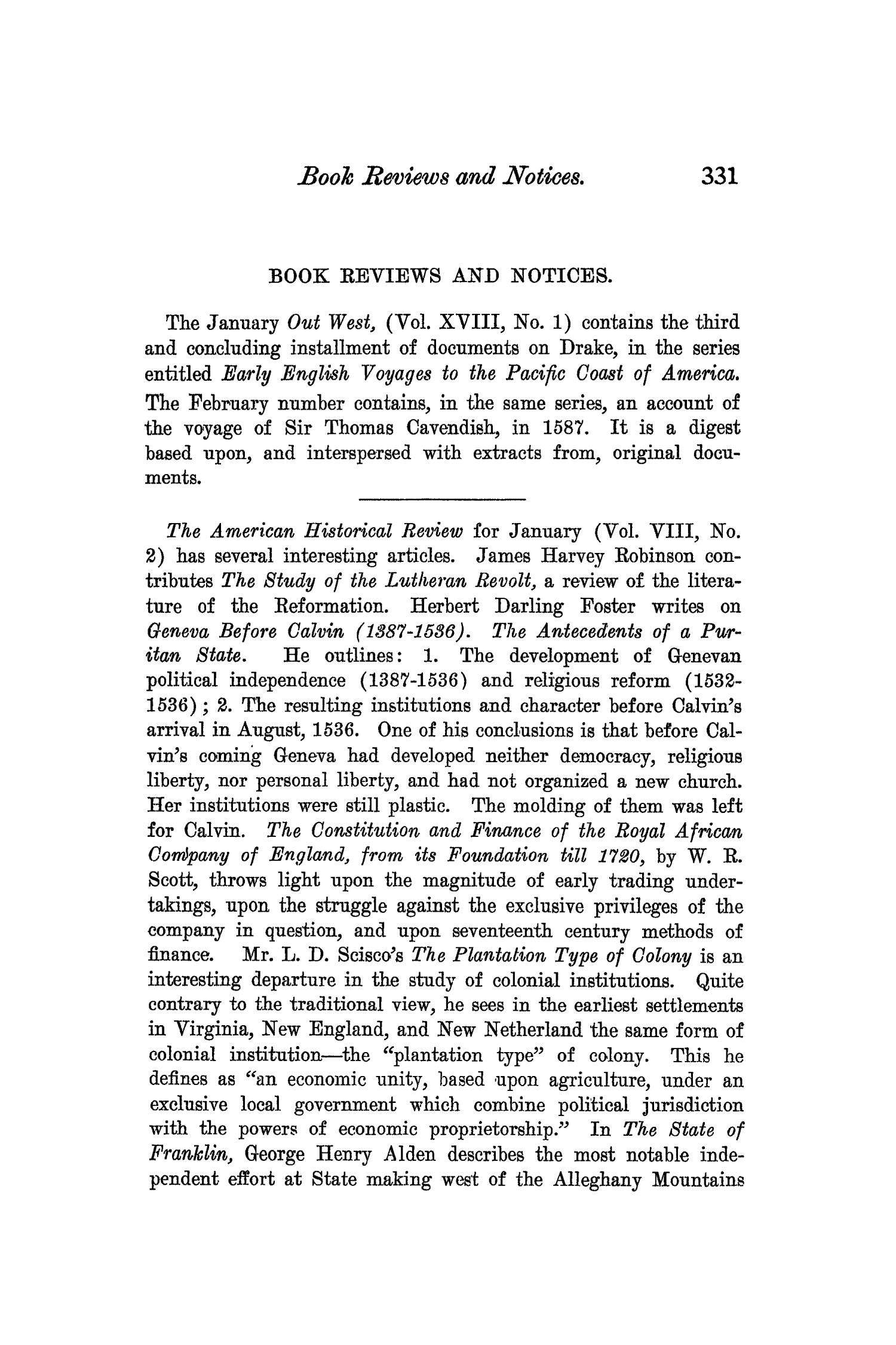The Quarterly of the Texas State Historical Association, Volume 6, July 1902 - April, 1903                                                                                                      331