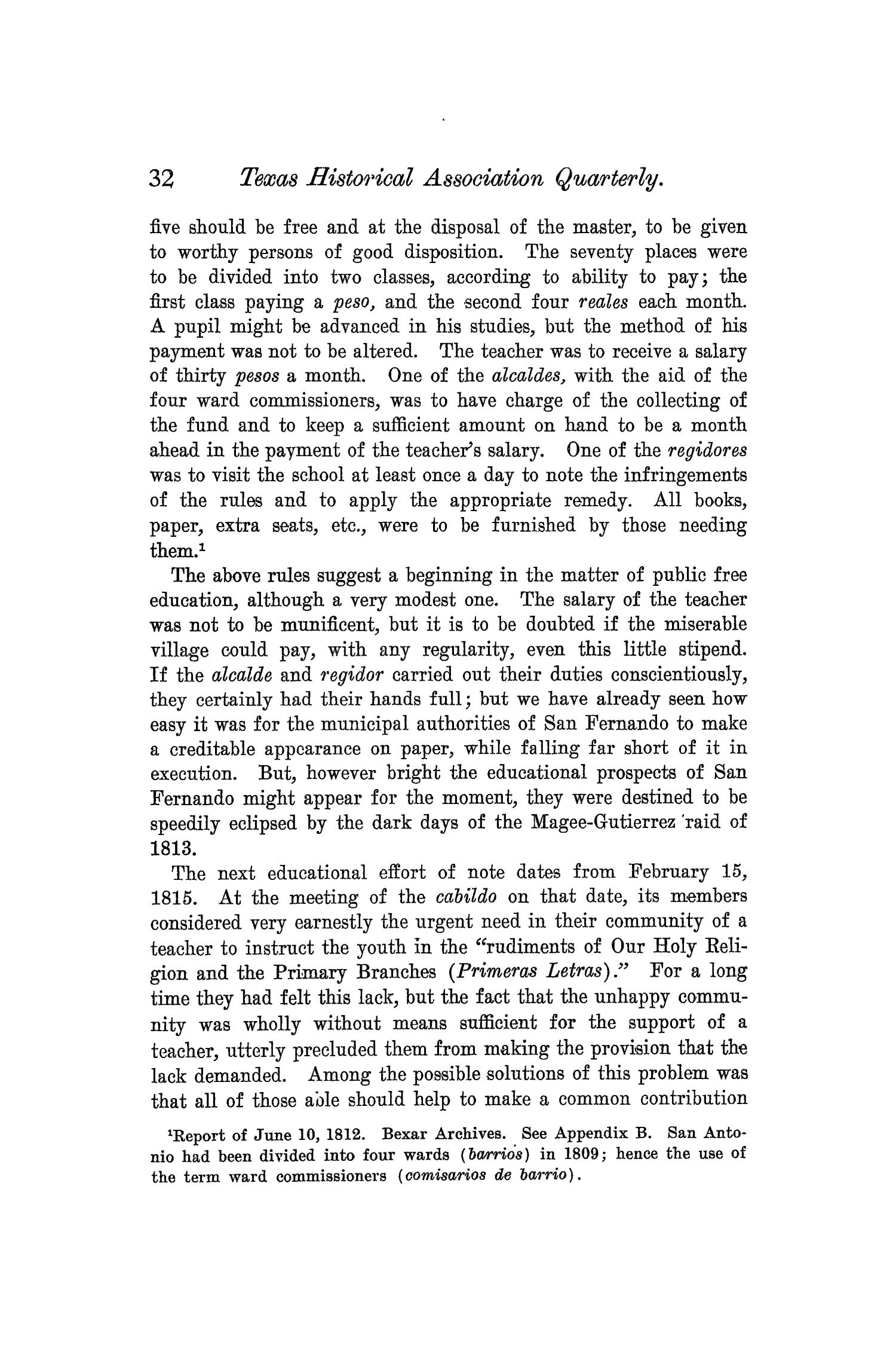 The Quarterly of the Texas State Historical Association, Volume 6, July 1902 - April, 1903                                                                                                      32