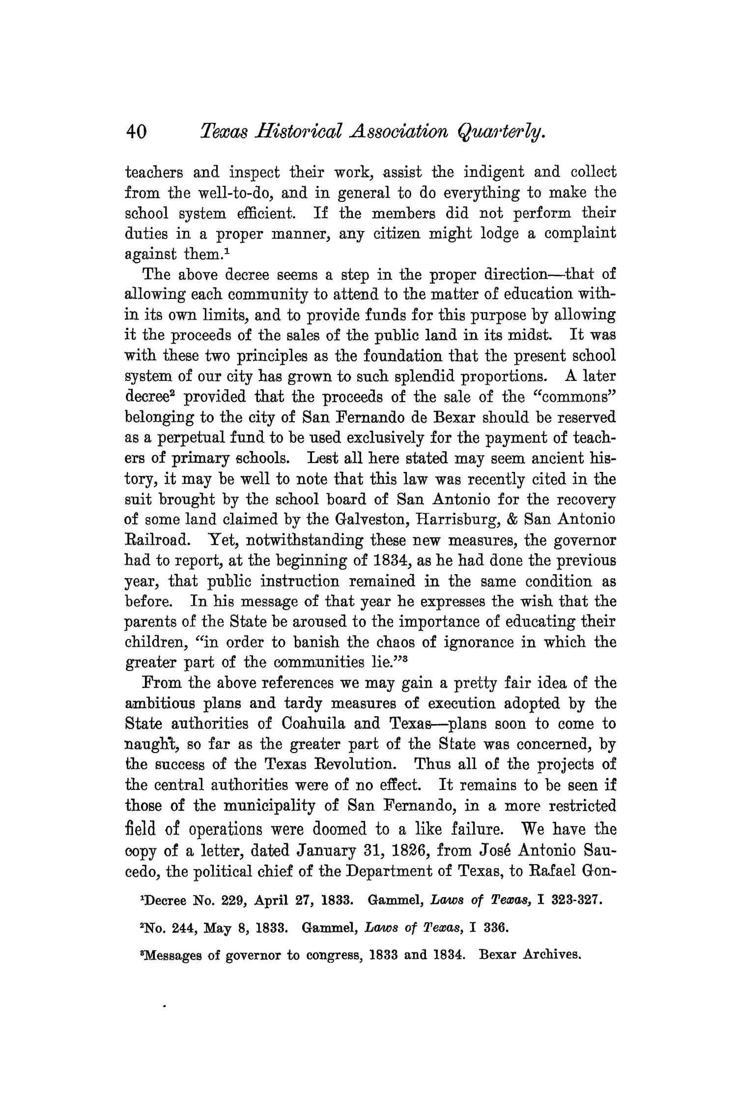 The Quarterly of the Texas State Historical Association, Volume 6, July 1902 - April, 1903                                                                                                      40
