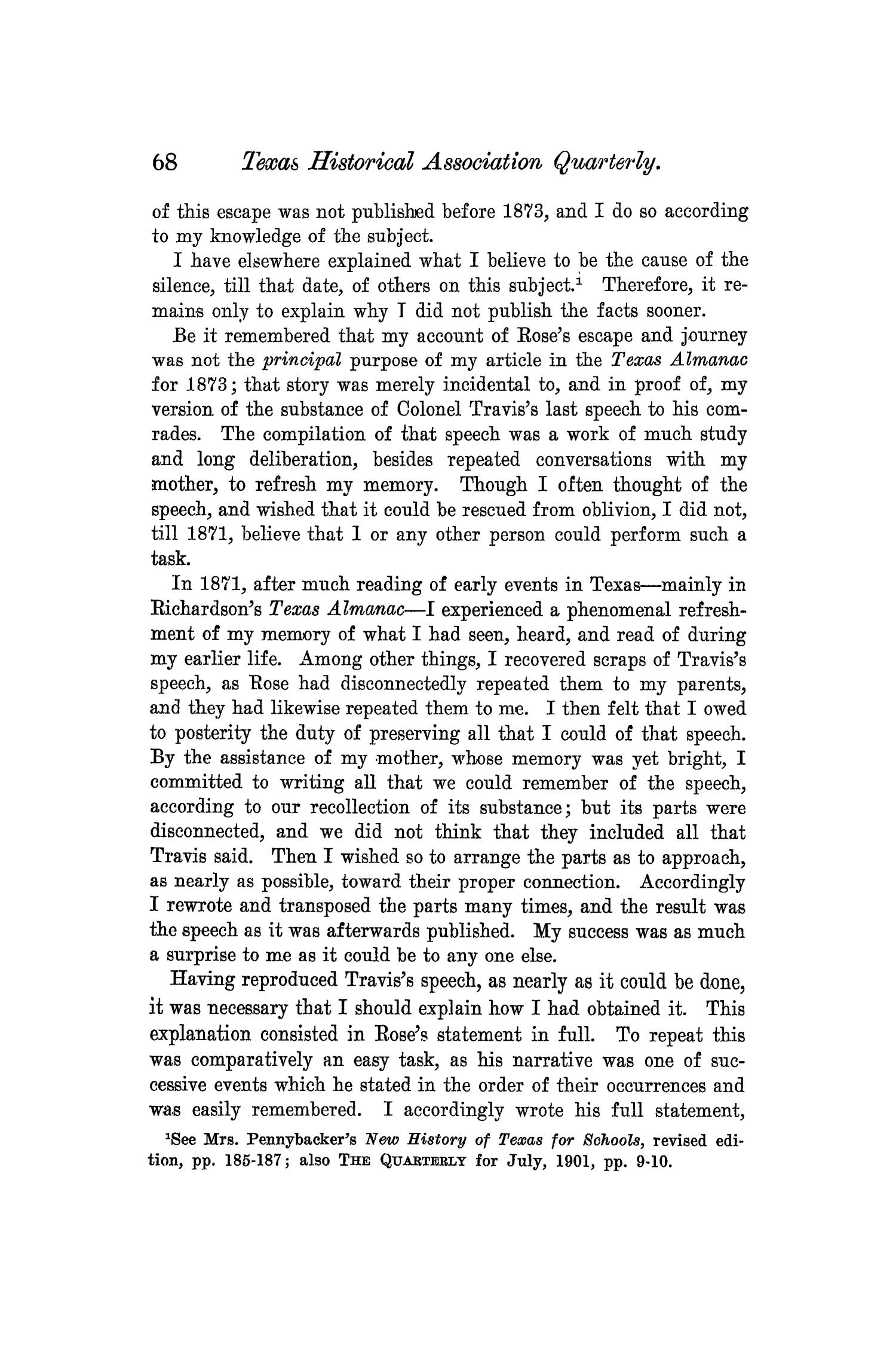 The Quarterly of the Texas State Historical Association, Volume 6, July 1902 - April, 1903                                                                                                      68