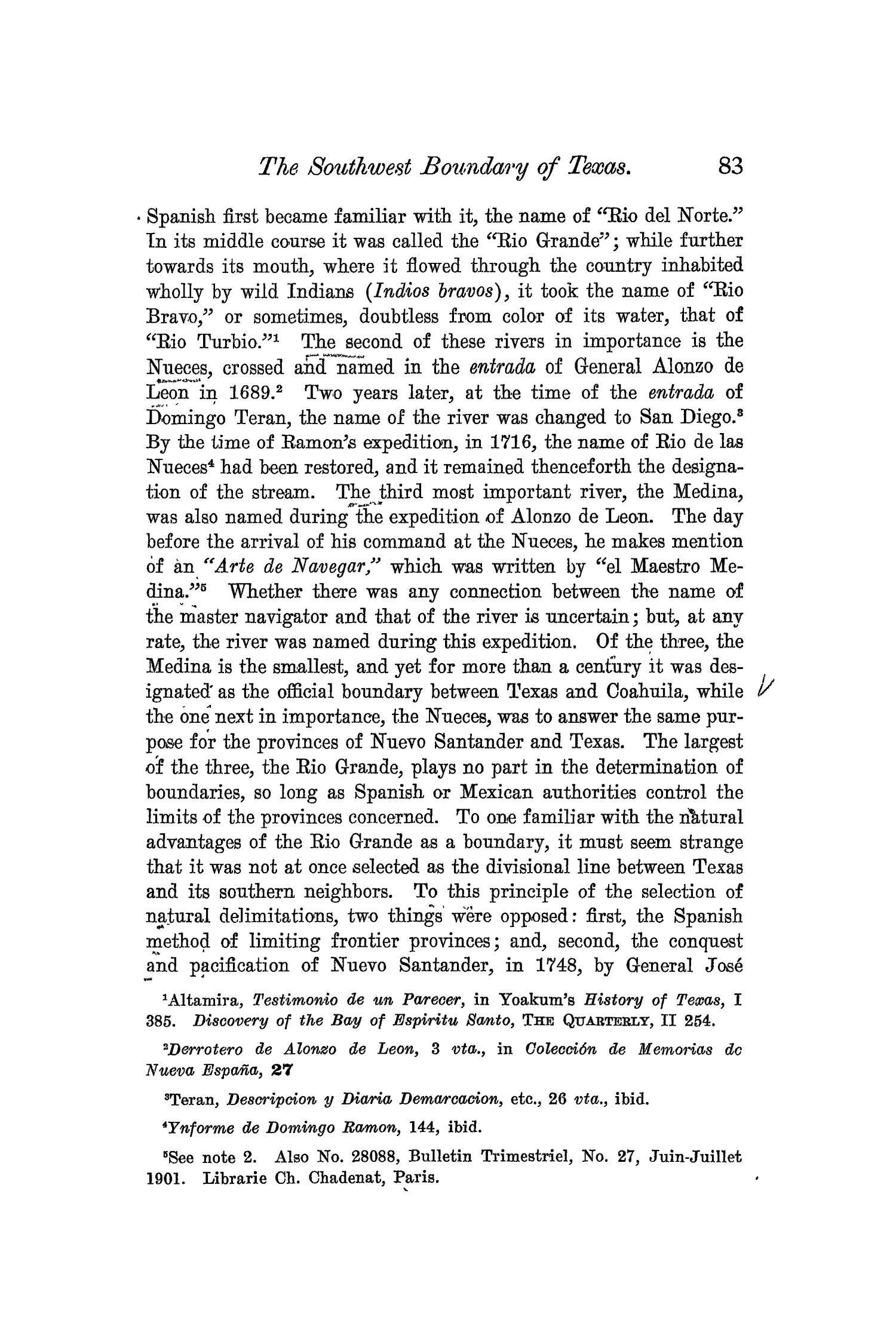 The Quarterly of the Texas State Historical Association, Volume 6, July 1902 - April, 1903                                                                                                      83