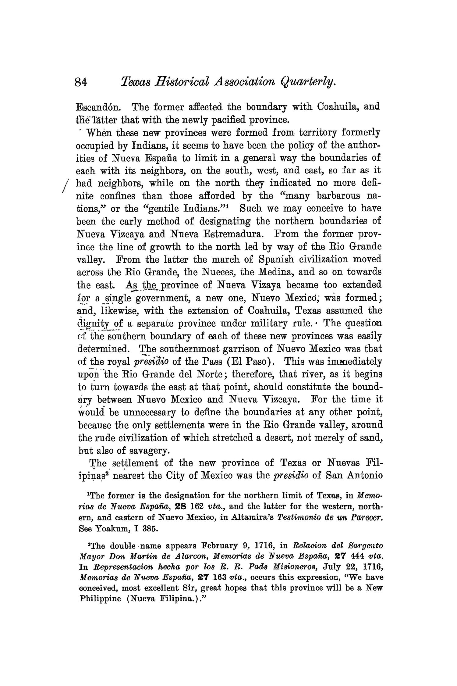 The Quarterly of the Texas State Historical Association, Volume 6, July 1902 - April, 1903                                                                                                      84