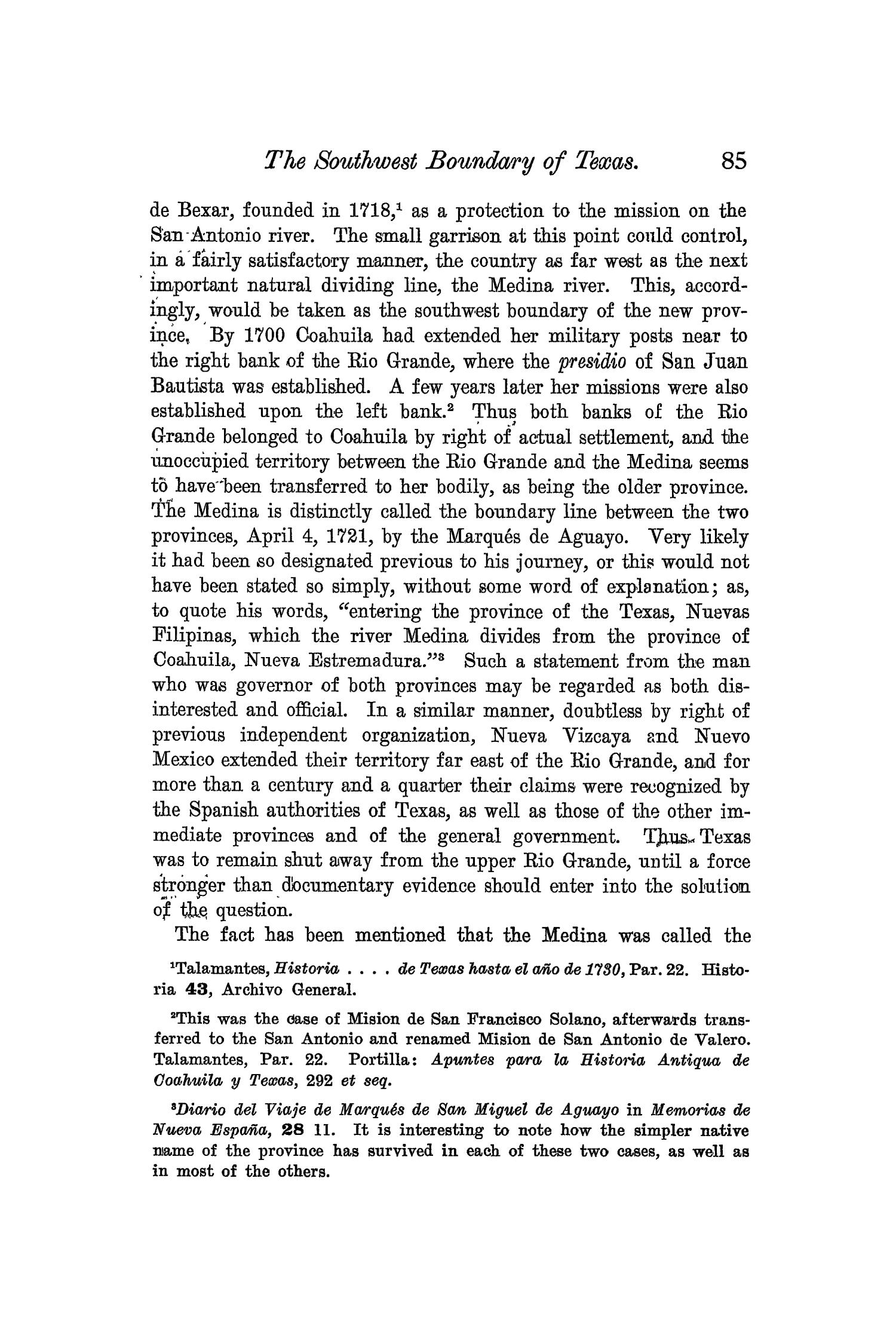 The Quarterly of the Texas State Historical Association, Volume 6, July 1902 - April, 1903                                                                                                      85