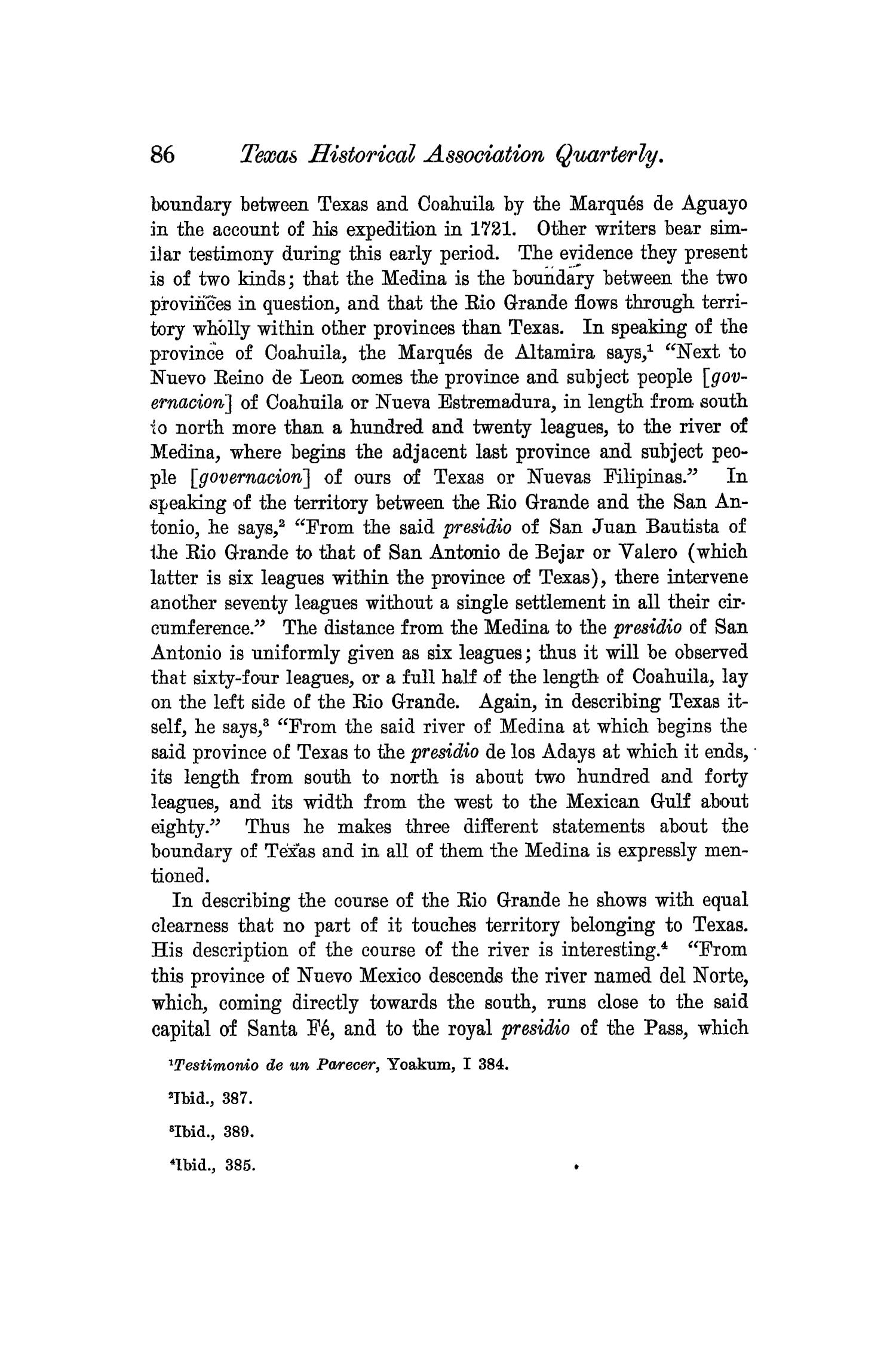 The Quarterly of the Texas State Historical Association, Volume 6, July 1902 - April, 1903                                                                                                      86