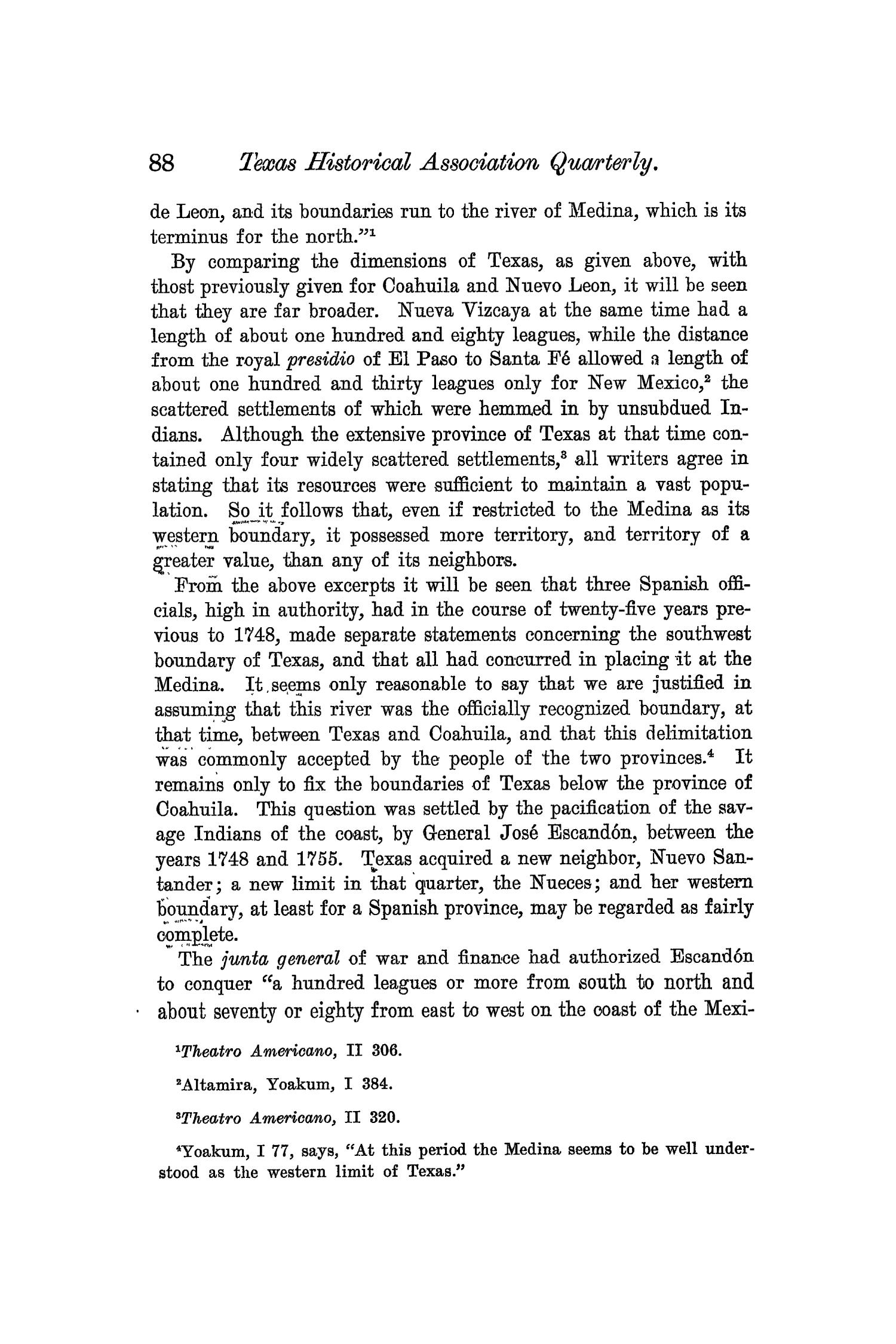 The Quarterly of the Texas State Historical Association, Volume 6, July 1902 - April, 1903                                                                                                      88