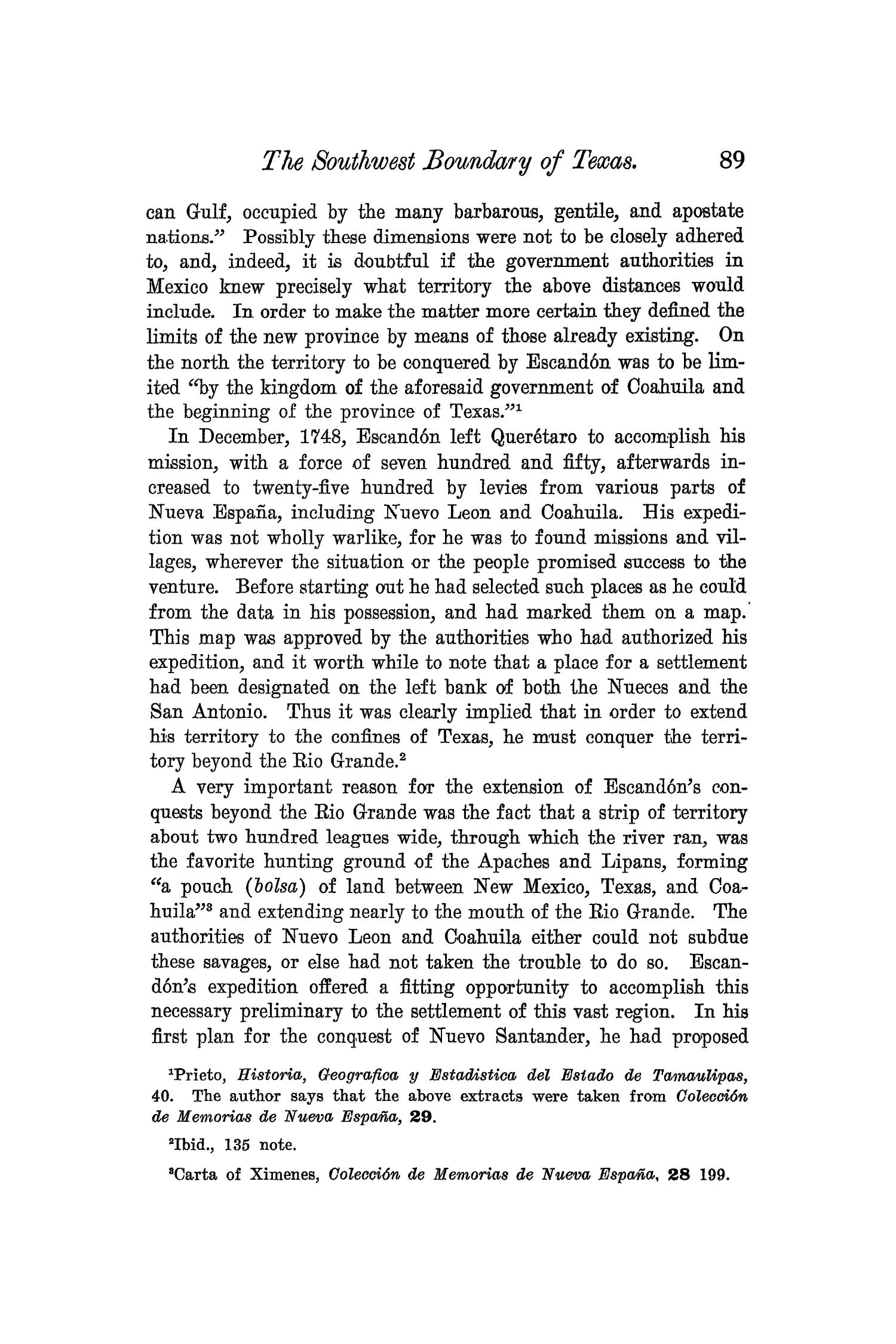 The Quarterly of the Texas State Historical Association, Volume 6, July 1902 - April, 1903                                                                                                      89