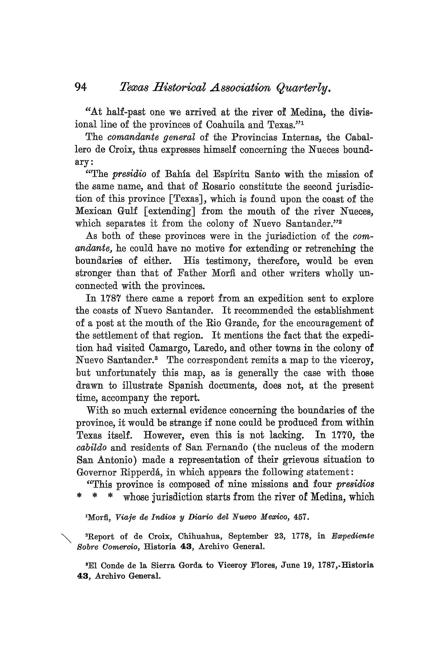 The Quarterly of the Texas State Historical Association, Volume 6, July 1902 - April, 1903                                                                                                      94