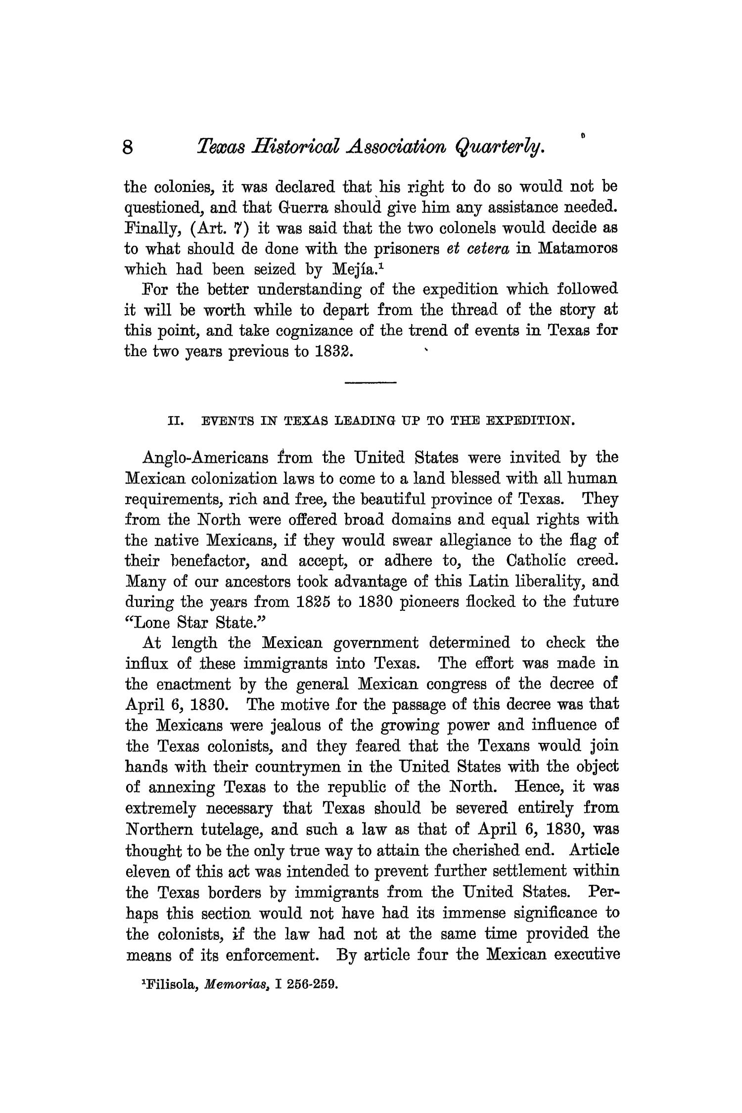 The Quarterly of the Texas State Historical Association, Volume 7, July 1903 - April, 1904                                                                                                      8