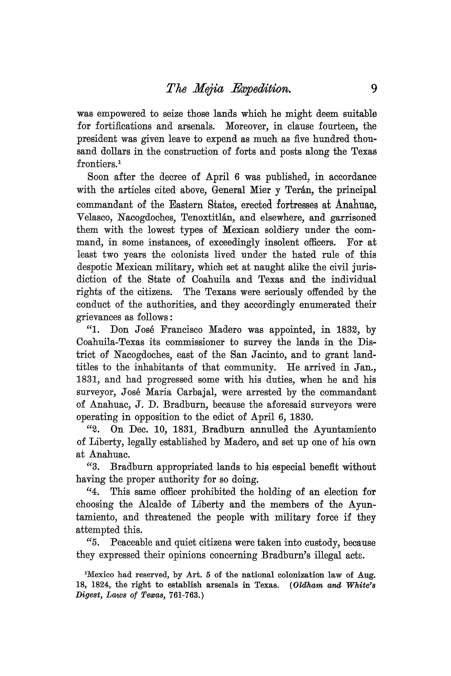 The Quarterly of the Texas State Historical Association, Volume 7, July 1903 - April, 1904                                                                                                      9
