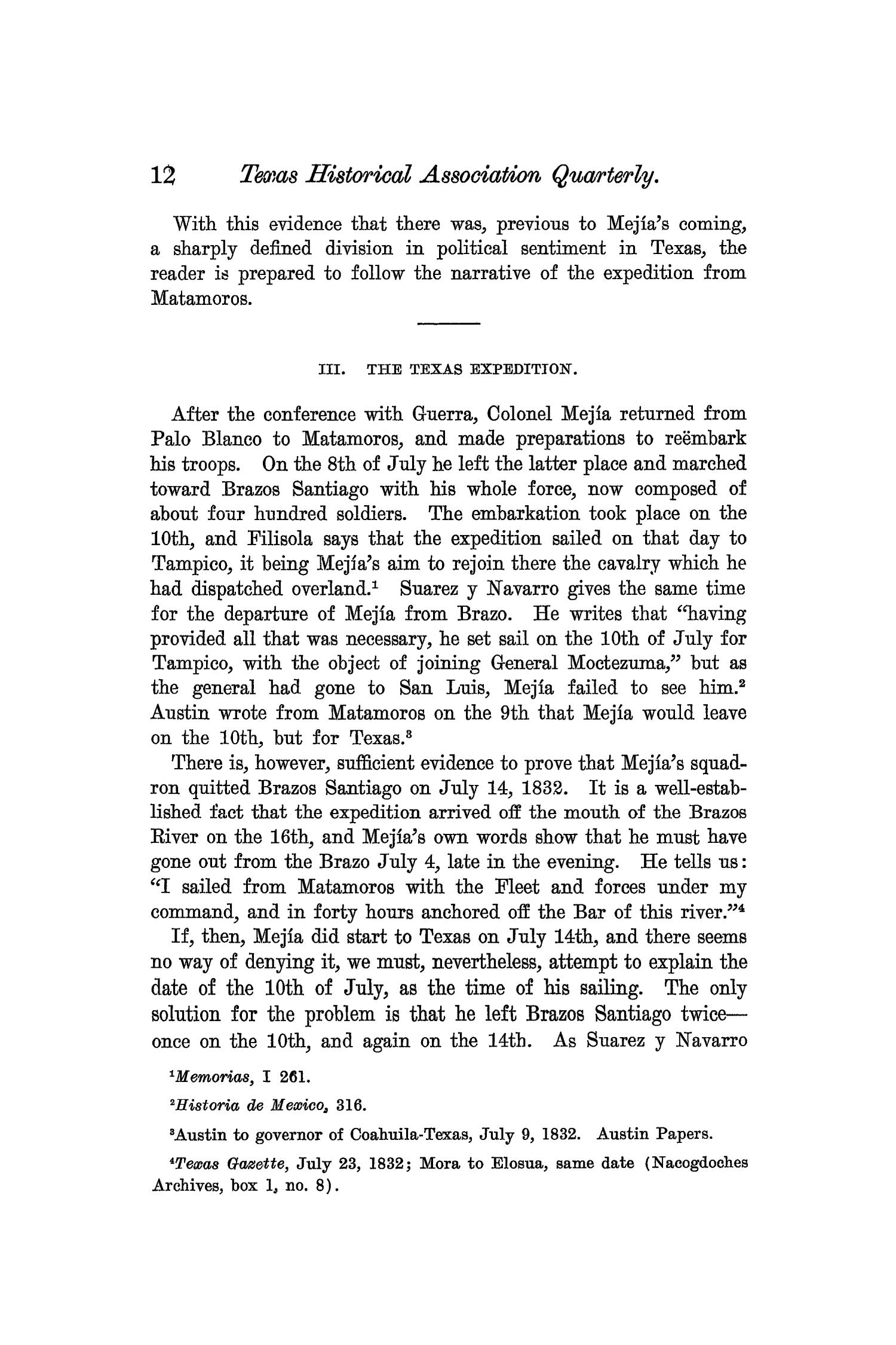 The Quarterly of the Texas State Historical Association, Volume 7, July 1903 - April, 1904                                                                                                      12