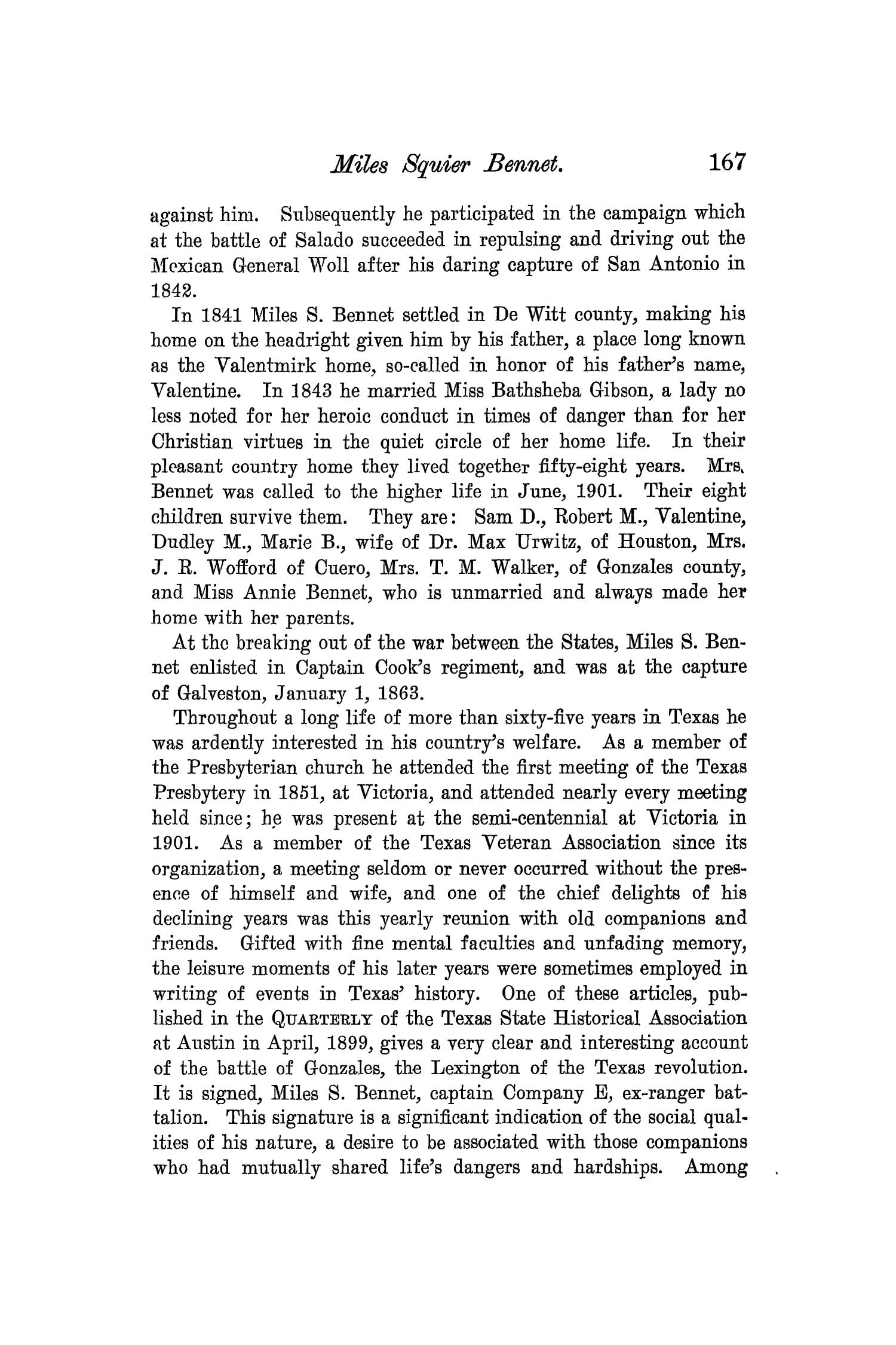 The Quarterly of the Texas State Historical Association, Volume 7, July 1903 - April, 1904                                                                                                      167