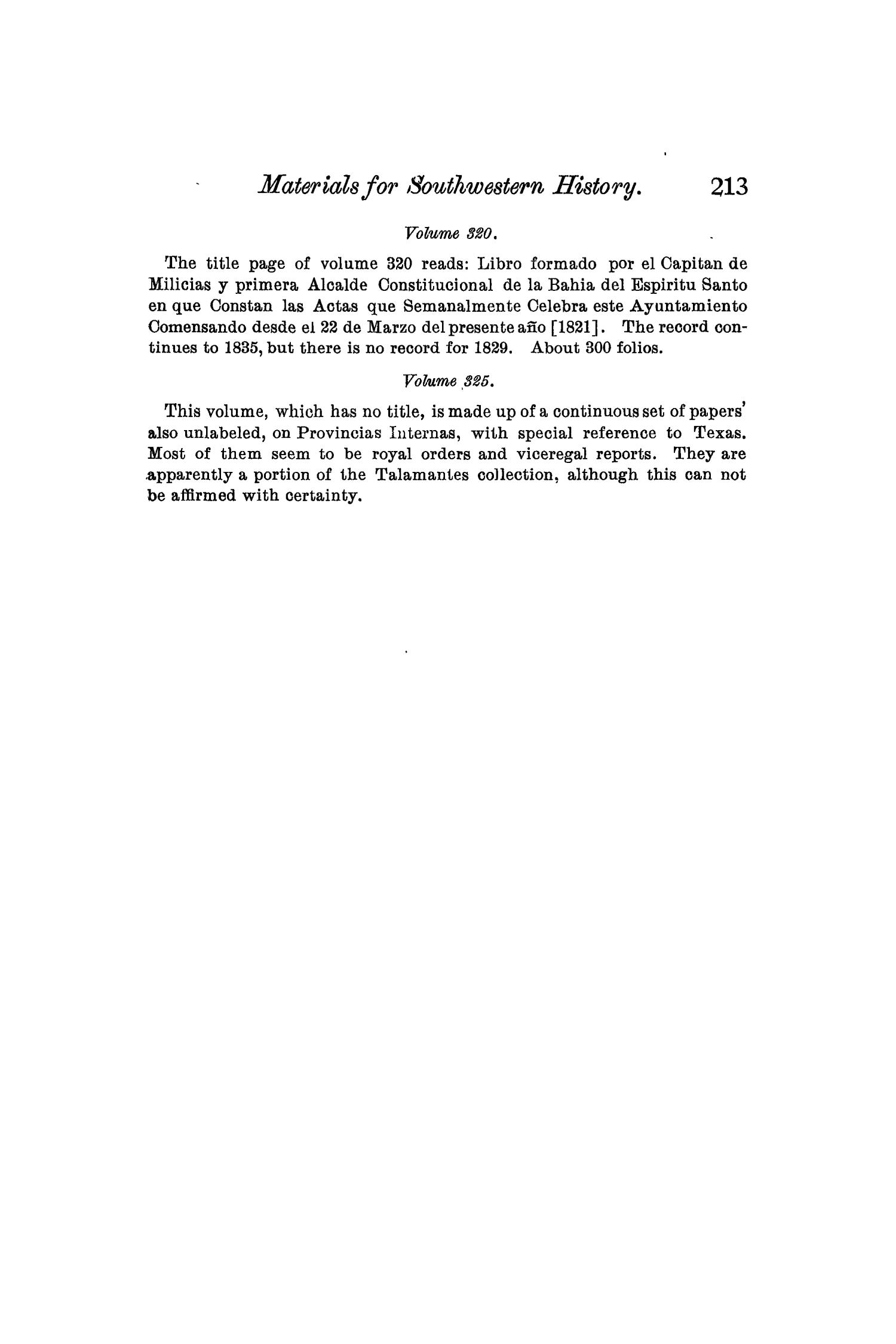 The Quarterly of the Texas State Historical Association, Volume 7, July 1903 - April, 1904                                                                                                      213