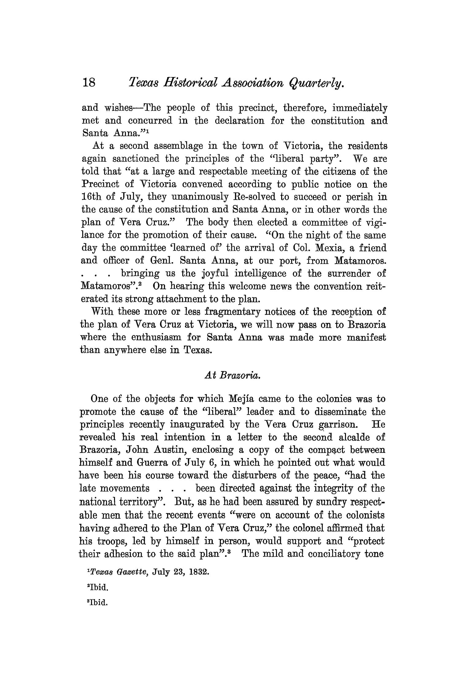 The Quarterly of the Texas State Historical Association, Volume 7, July 1903 - April, 1904                                                                                                      18