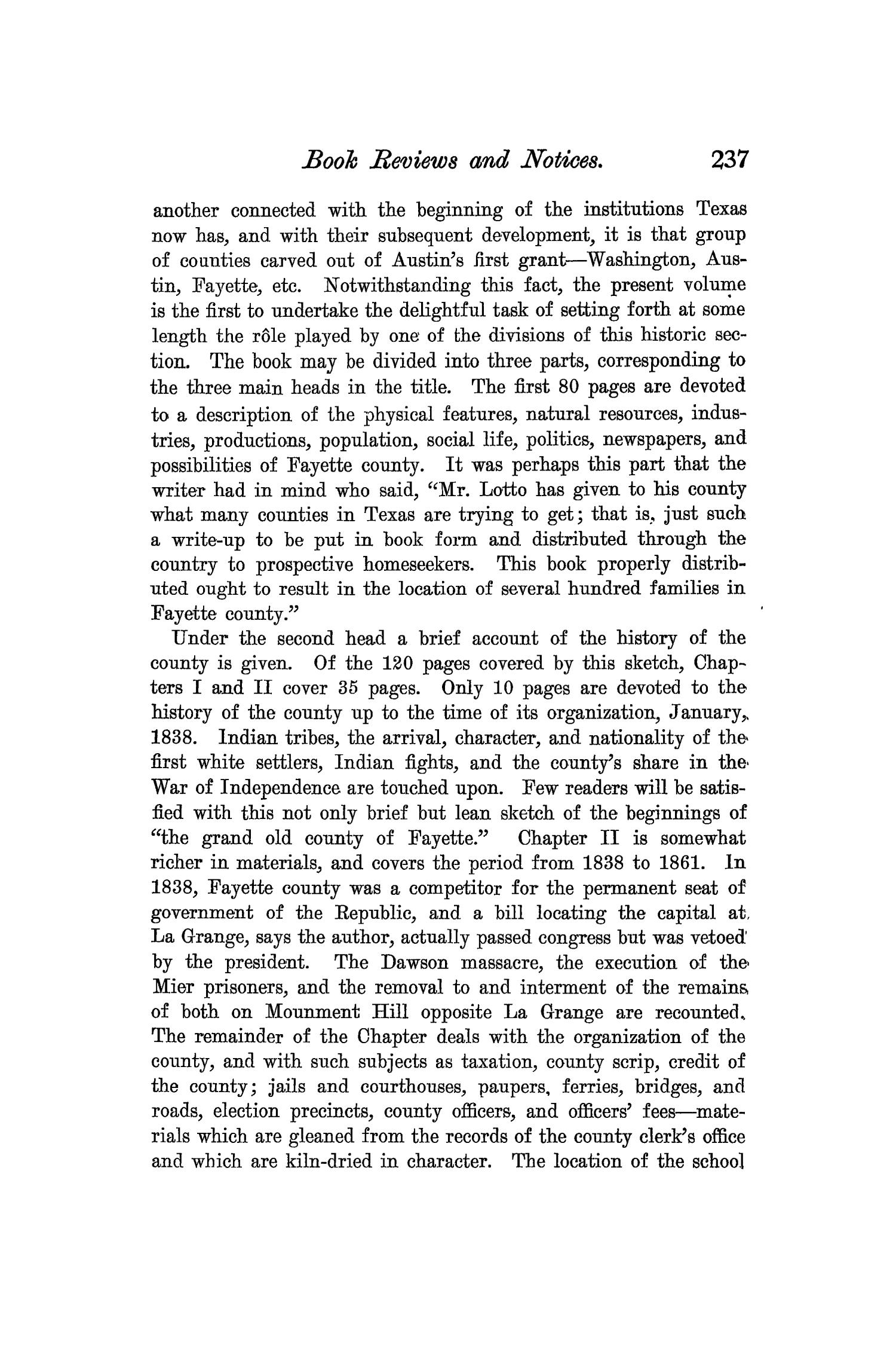 The Quarterly of the Texas State Historical Association, Volume 7, July 1903 - April, 1904                                                                                                      237