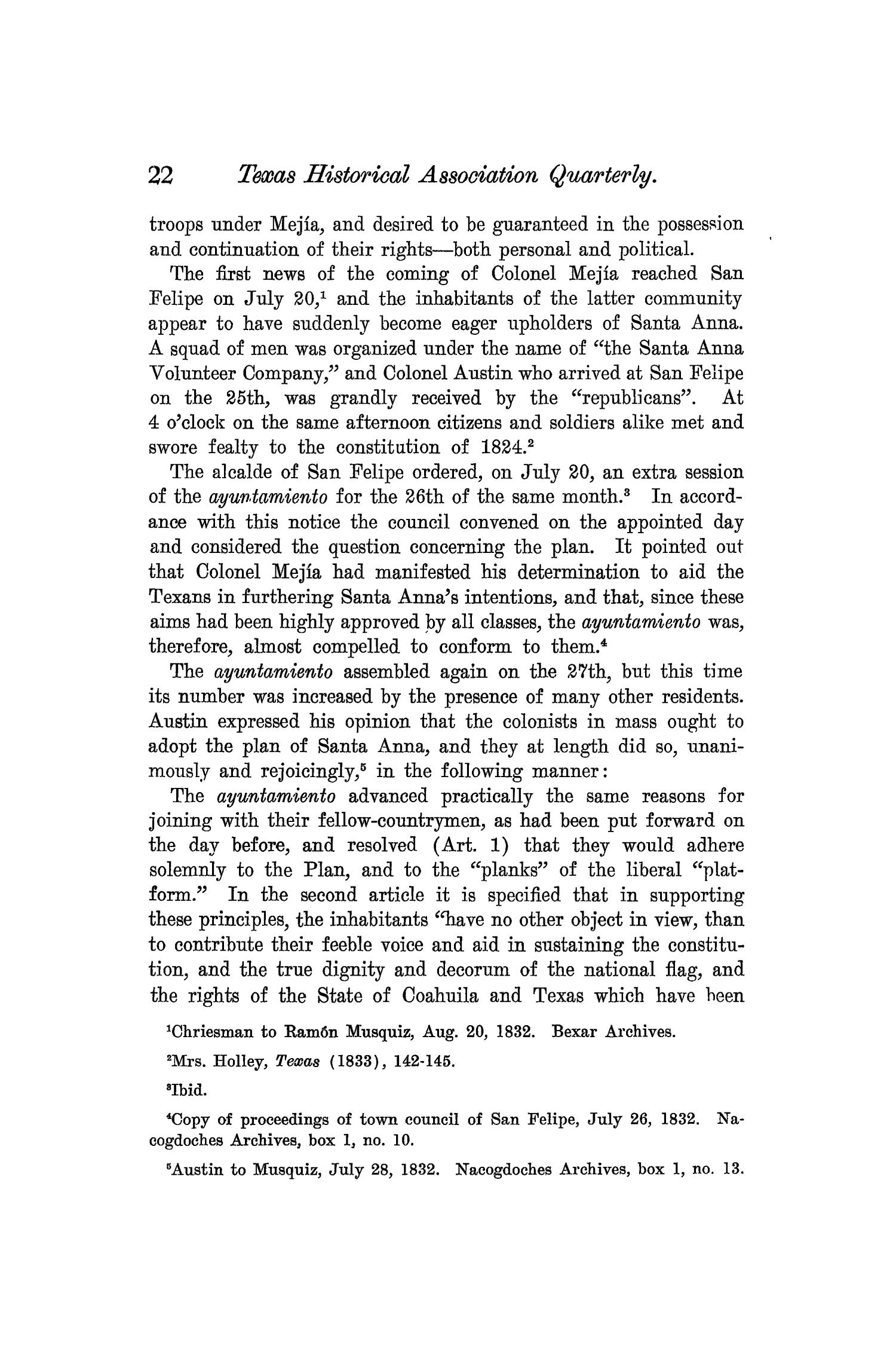 The Quarterly of the Texas State Historical Association, Volume 7, July 1903 - April, 1904                                                                                                      22