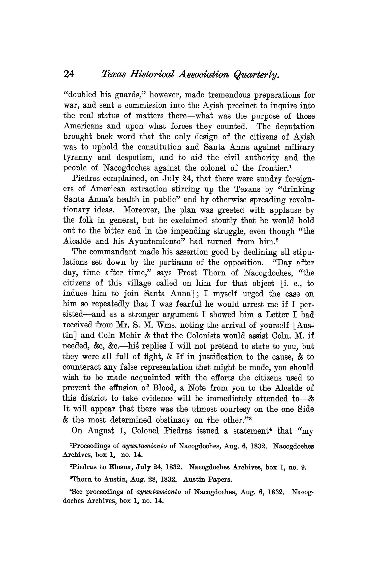 The Quarterly of the Texas State Historical Association, Volume 7, July 1903 - April, 1904                                                                                                      24