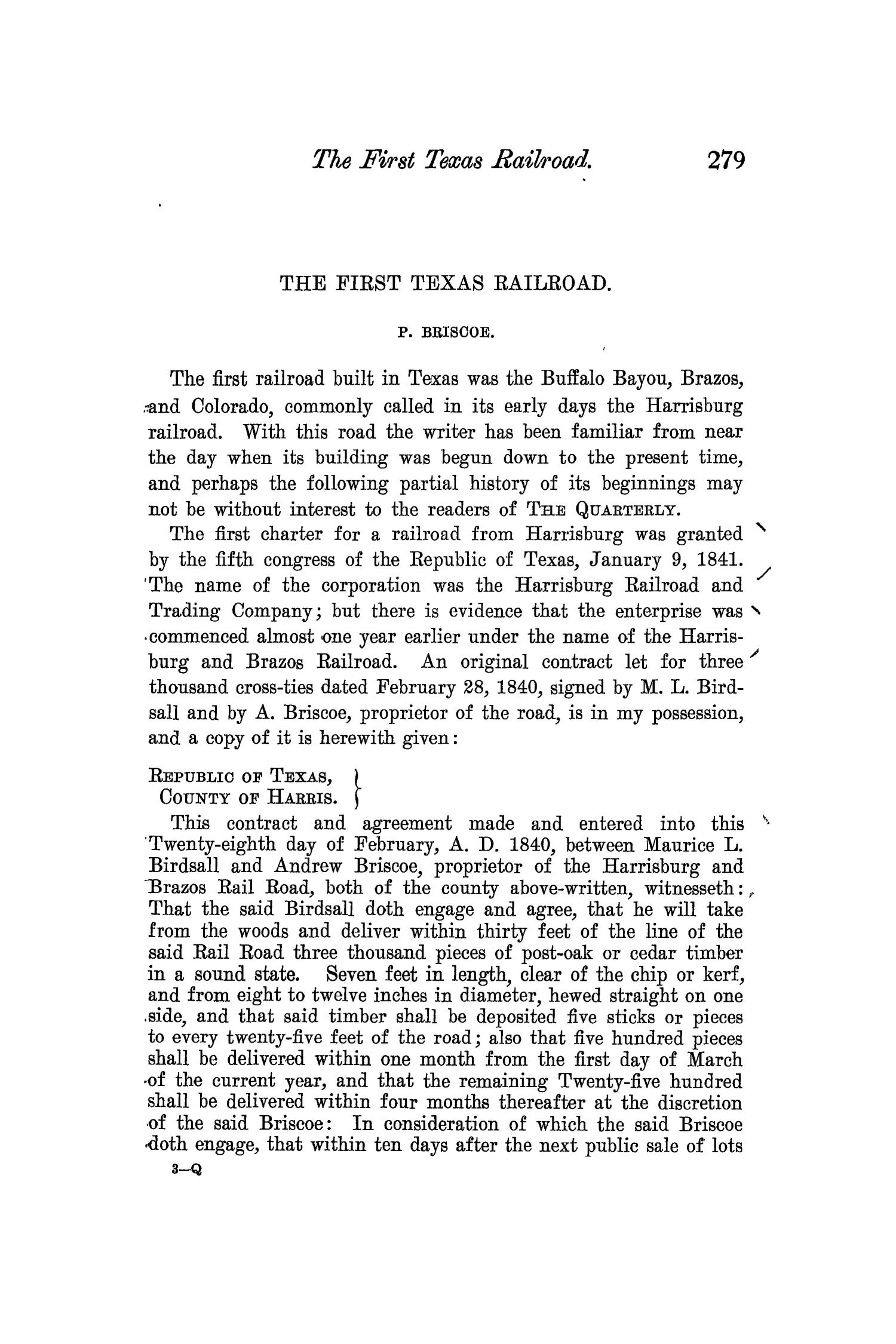 The Quarterly of the Texas State Historical Association, Volume 7, July 1903 - April, 1904                                                                                                      279