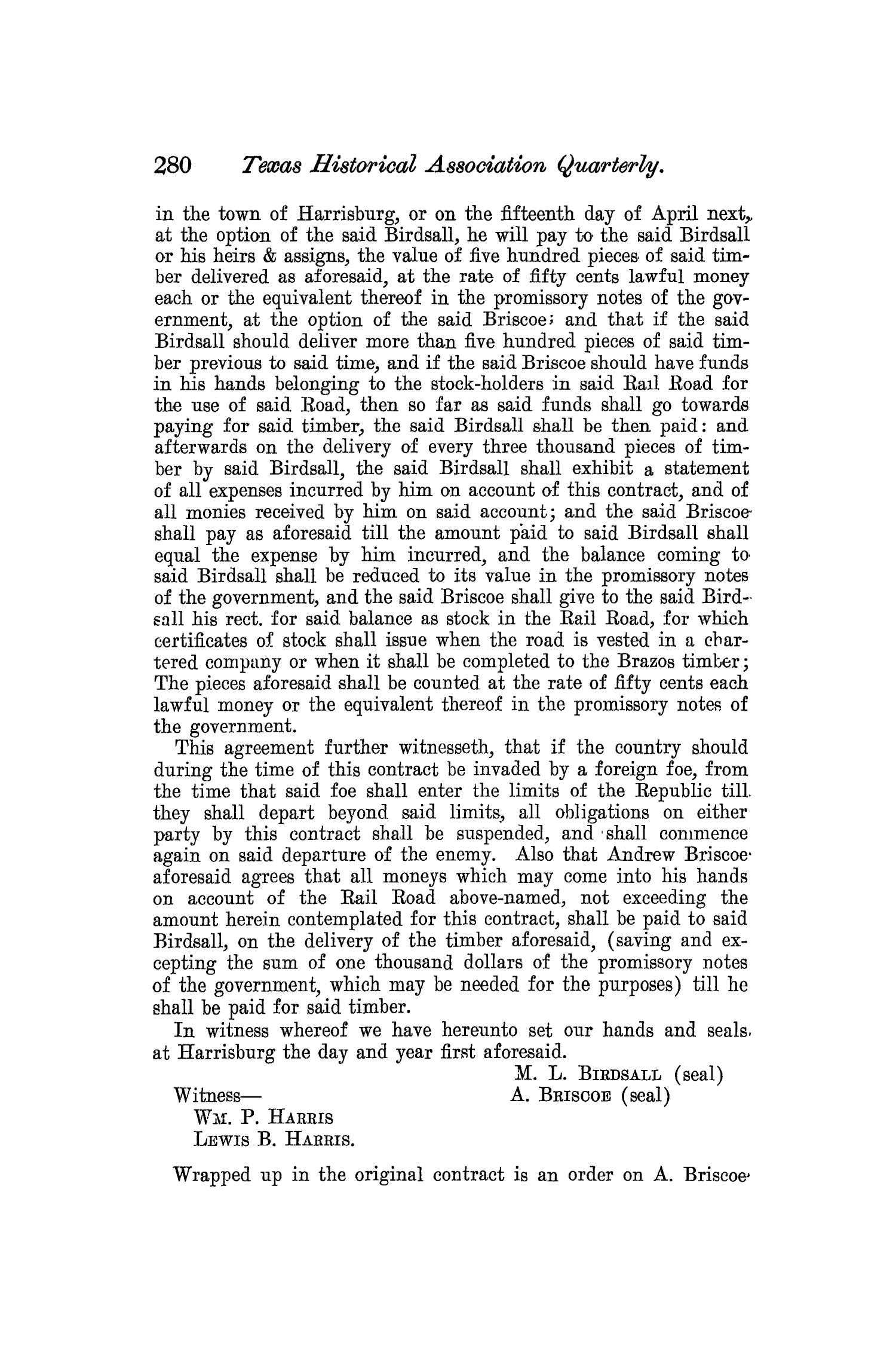 The Quarterly of the Texas State Historical Association, Volume 7, July 1903 - April, 1904                                                                                                      280