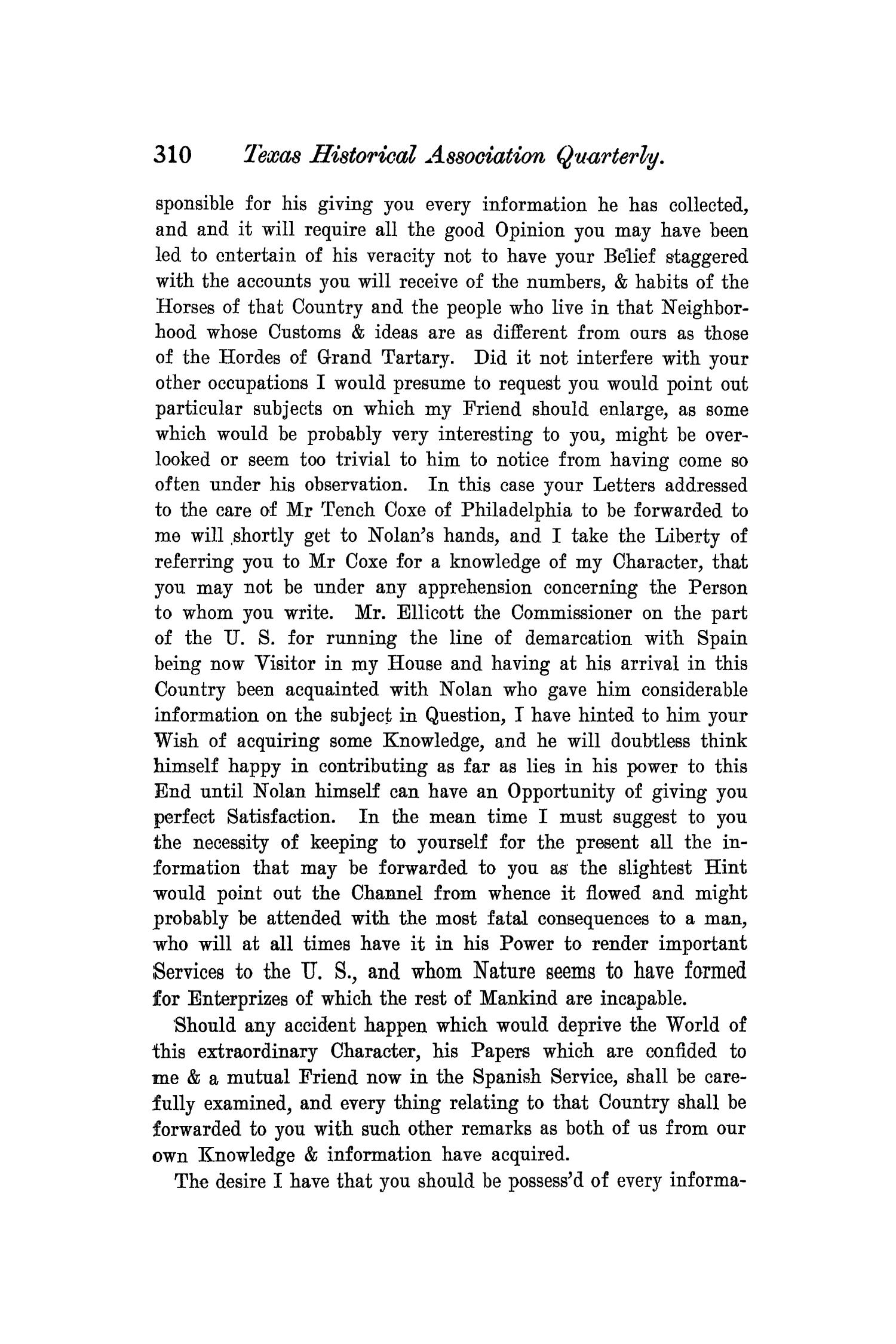 The Quarterly of the Texas State Historical Association, Volume 7, July 1903 - April, 1904                                                                                                      310