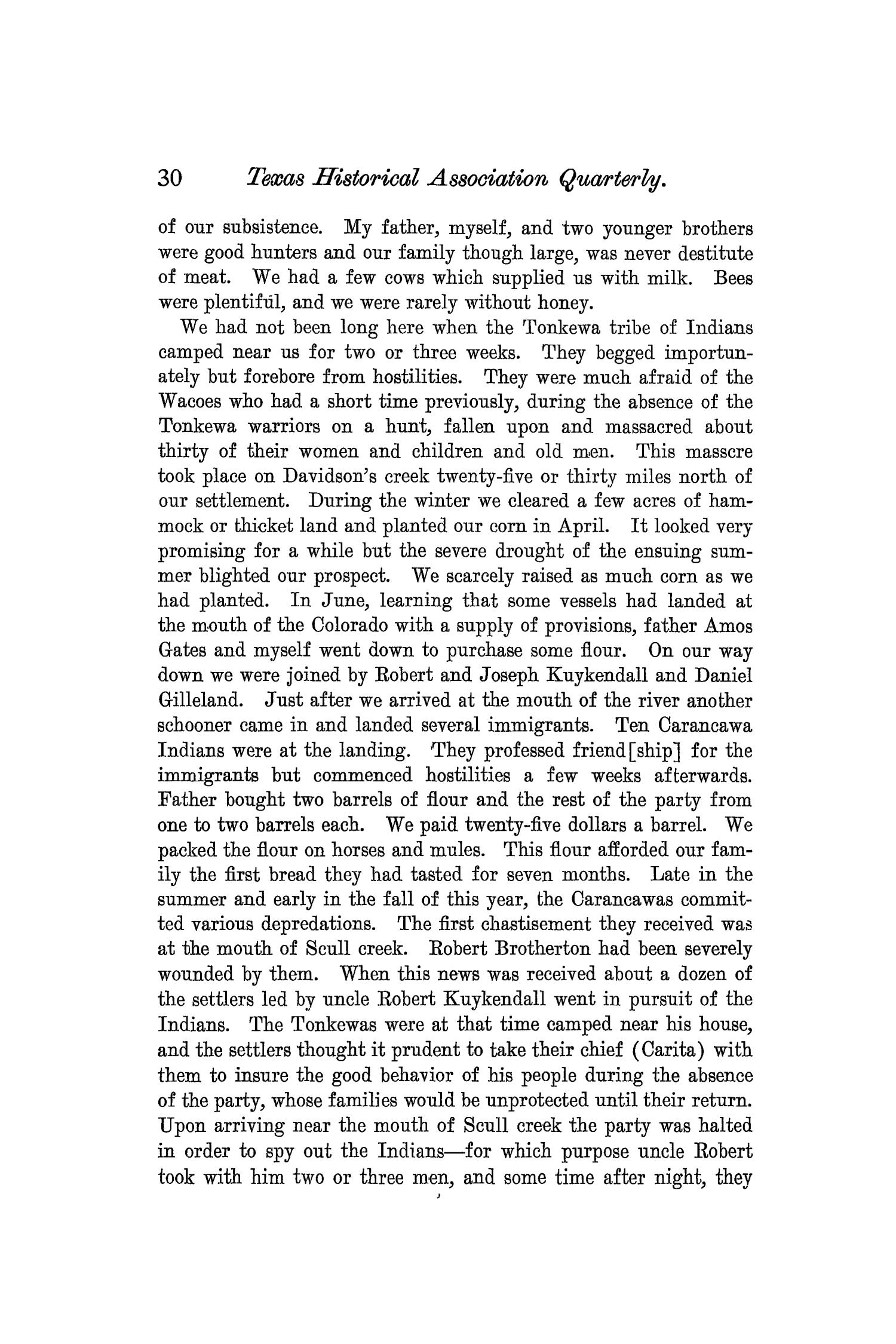 The Quarterly of the Texas State Historical Association, Volume 7, July 1903 - April, 1904                                                                                                      30