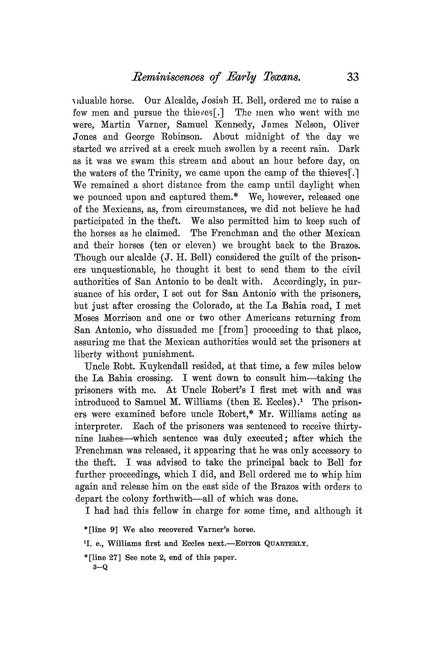 The Quarterly of the Texas State Historical Association, Volume 7, July 1903 - April, 1904                                                                                                      33