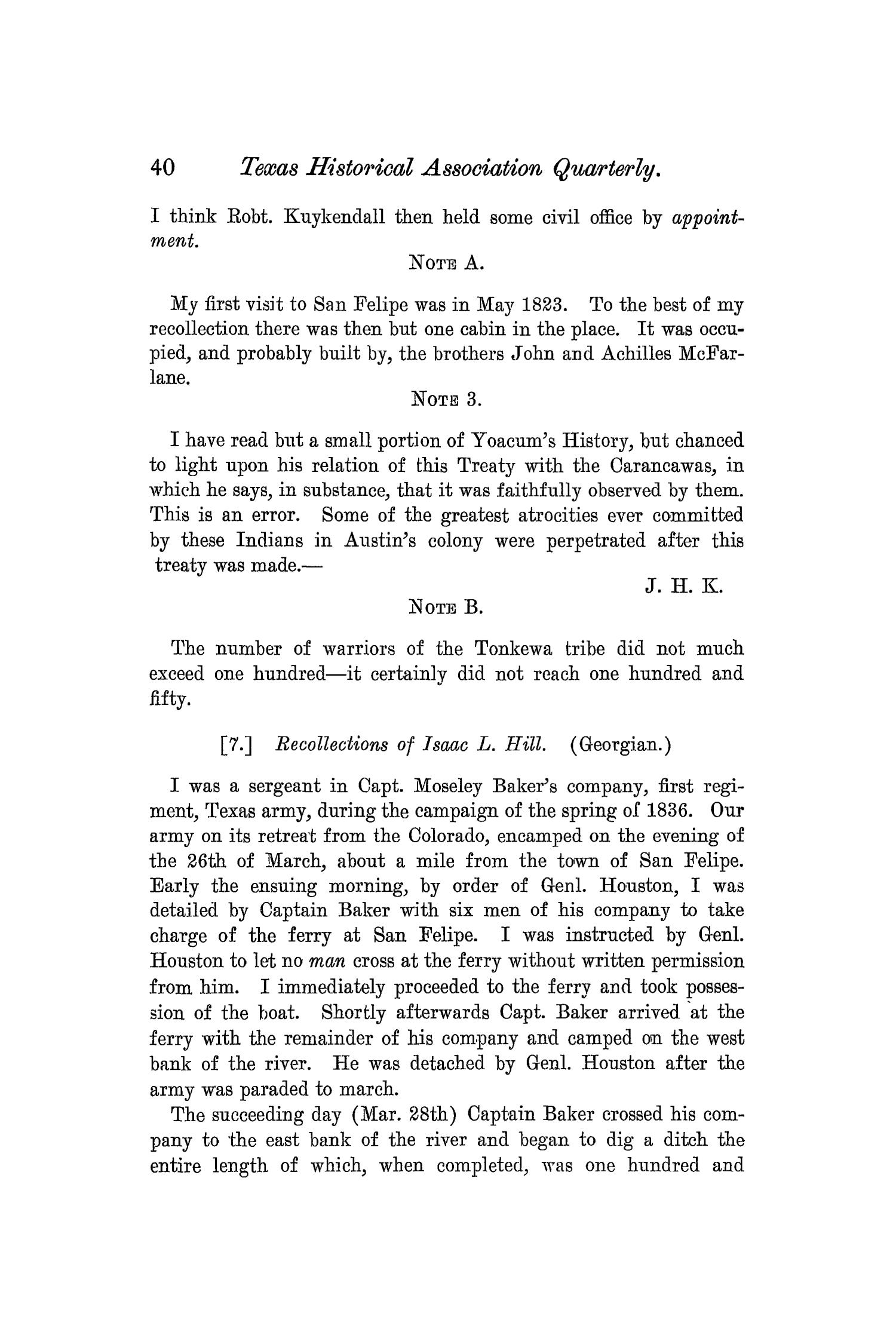 The Quarterly of the Texas State Historical Association, Volume 7, July 1903 - April, 1904                                                                                                      40