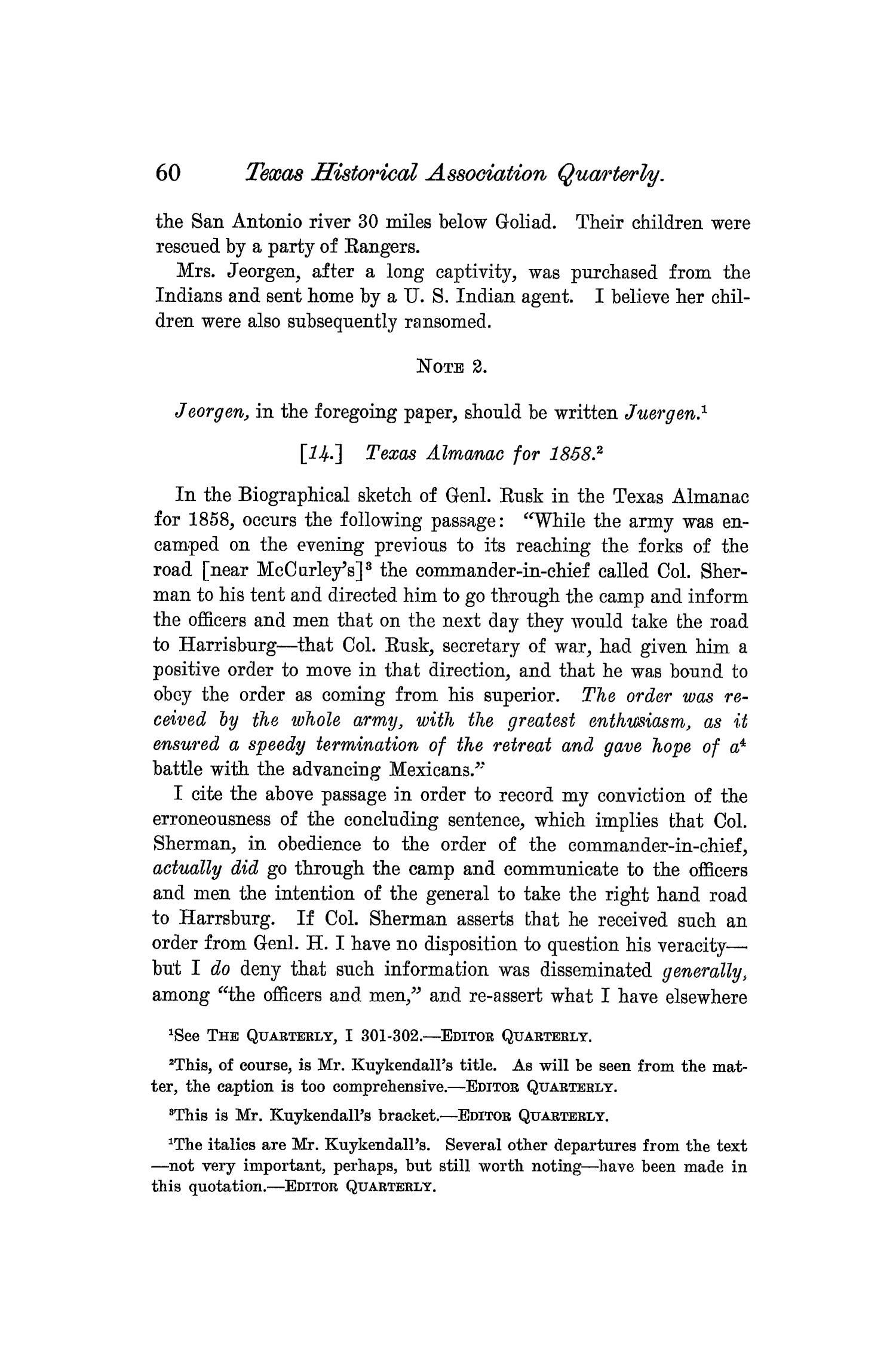 The Quarterly of the Texas State Historical Association, Volume 7, July 1903 - April, 1904                                                                                                      60