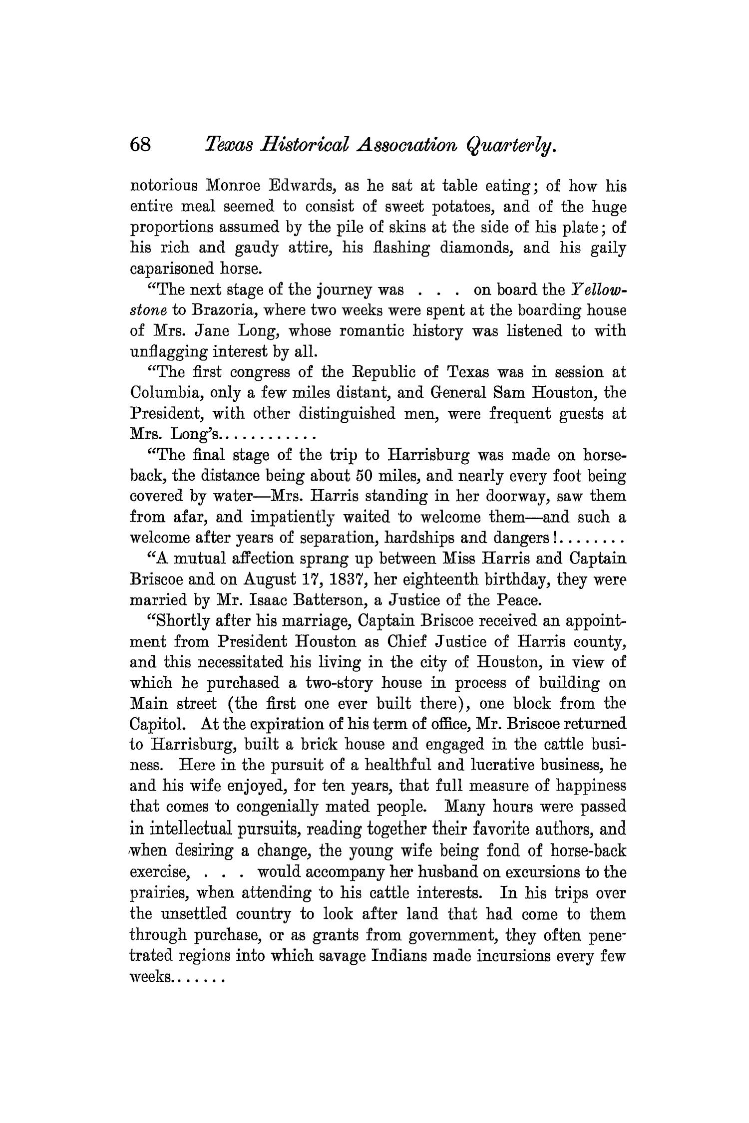 The Quarterly of the Texas State Historical Association, Volume 7, July 1903 - April, 1904                                                                                                      68