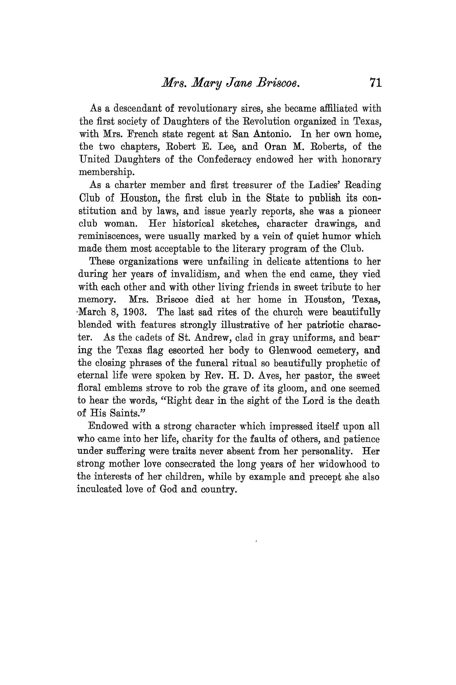 The Quarterly of the Texas State Historical Association, Volume 7, July 1903 - April, 1904                                                                                                      71