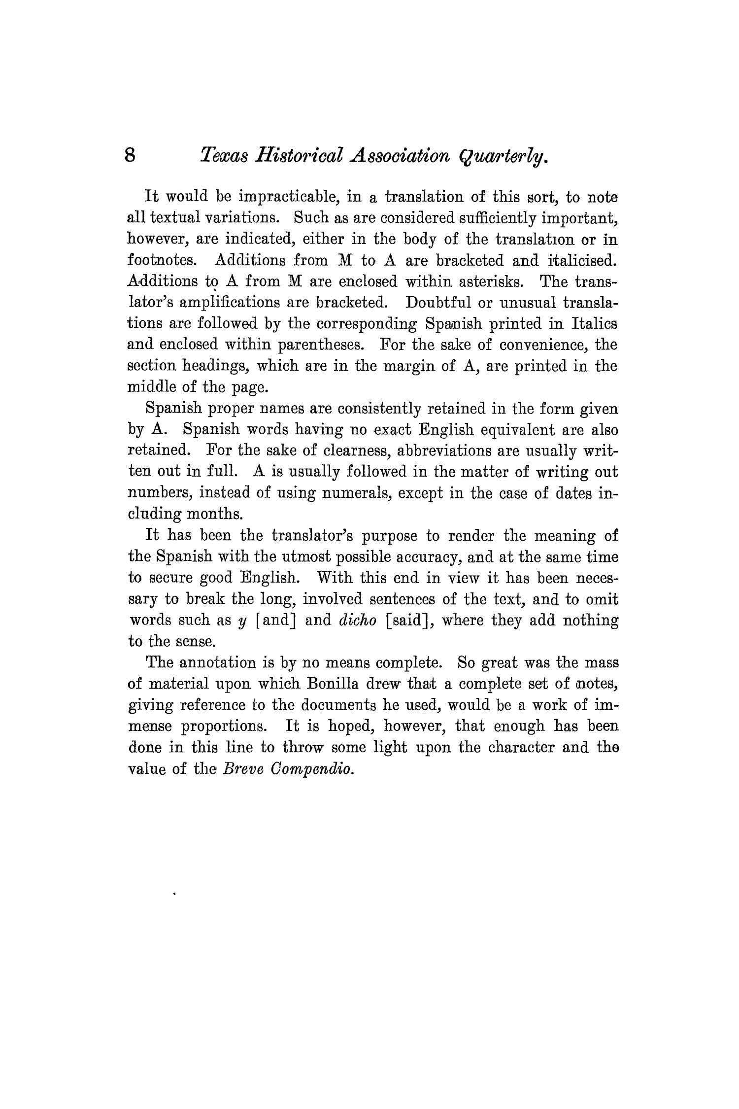 The Quarterly of the Texas State Historical Association, Volume 8, July 1904 - April, 1905                                                                                                      8