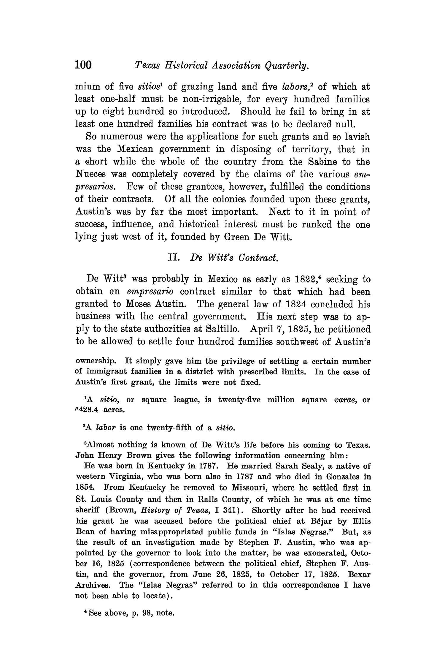 The Quarterly of the Texas State Historical Association, Volume 8, July 1904 - April, 1905                                                                                                      100
