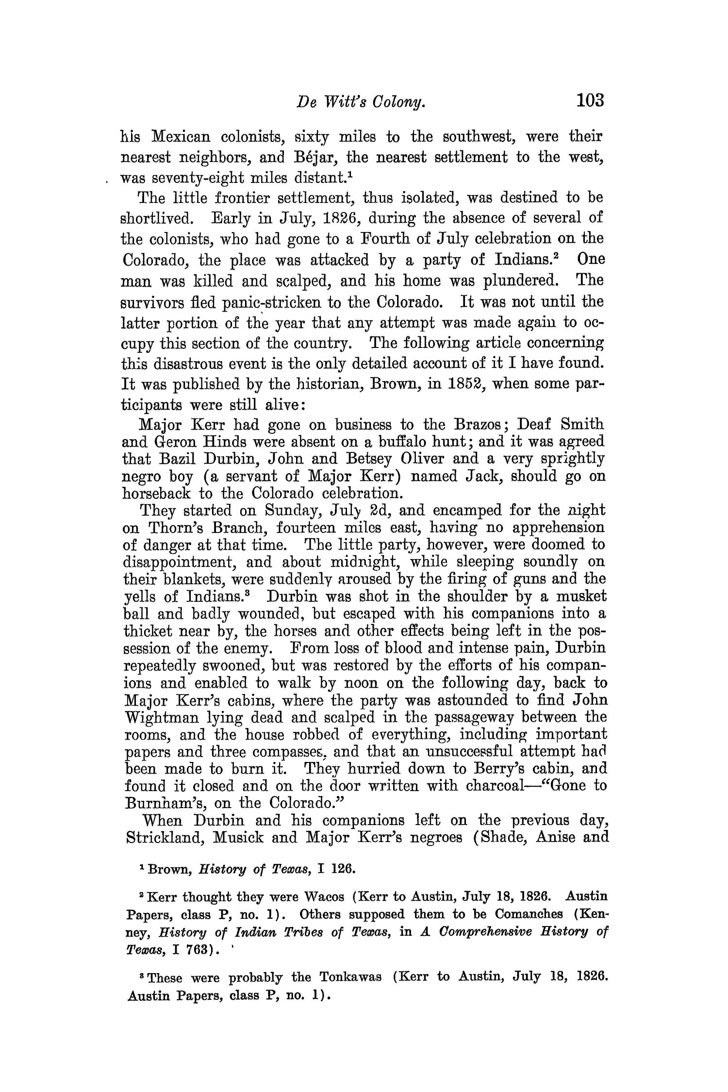 The Quarterly of the Texas State Historical Association, Volume 8, July 1904 - April, 1905                                                                                                      103
