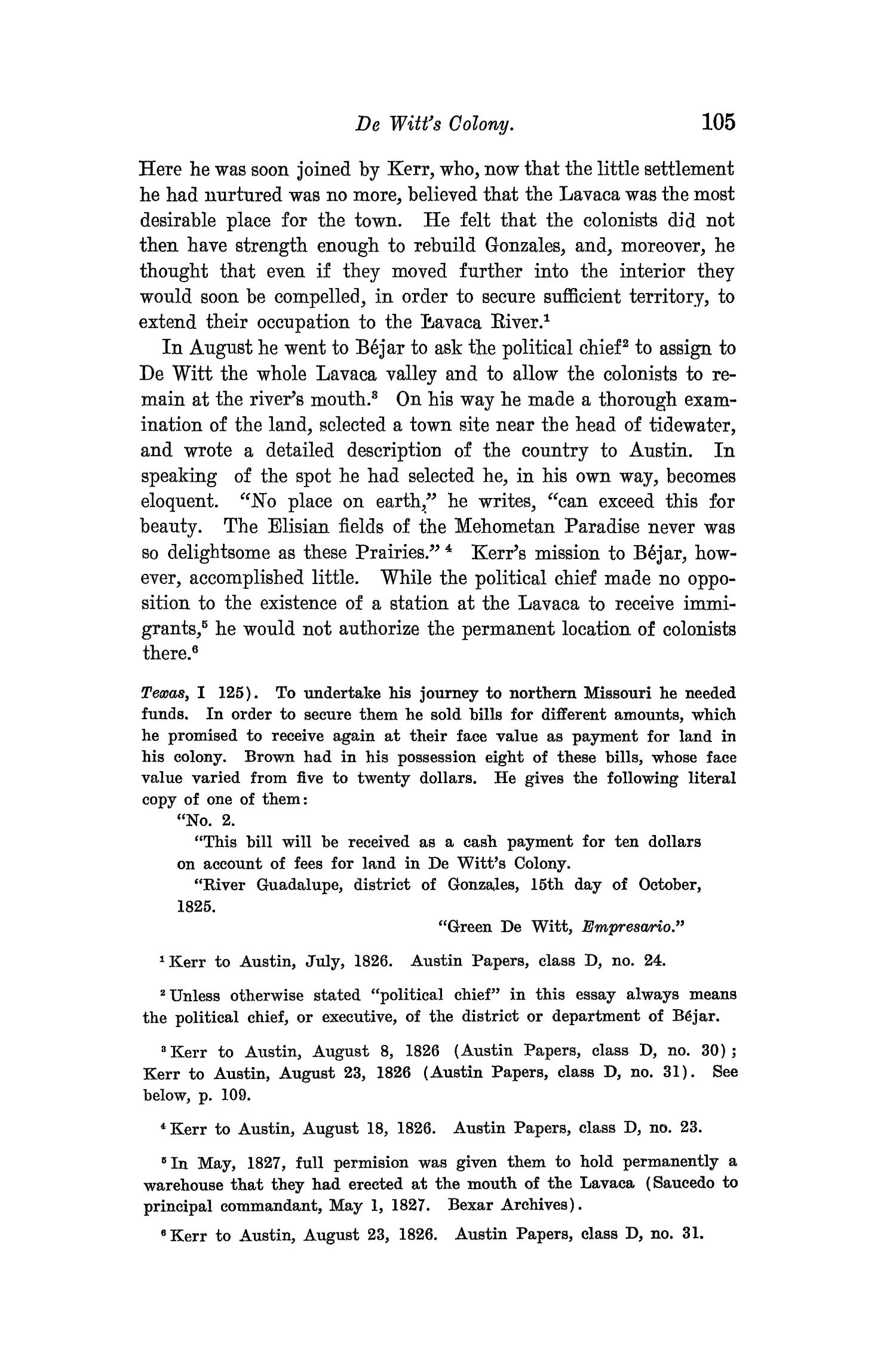 The Quarterly of the Texas State Historical Association, Volume 8, July 1904 - April, 1905                                                                                                      105